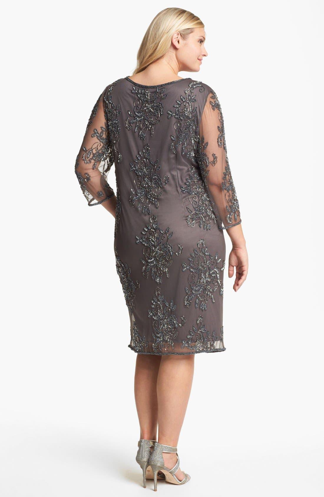 Embellished Tulle Dress,                             Alternate thumbnail 3, color,                             020
