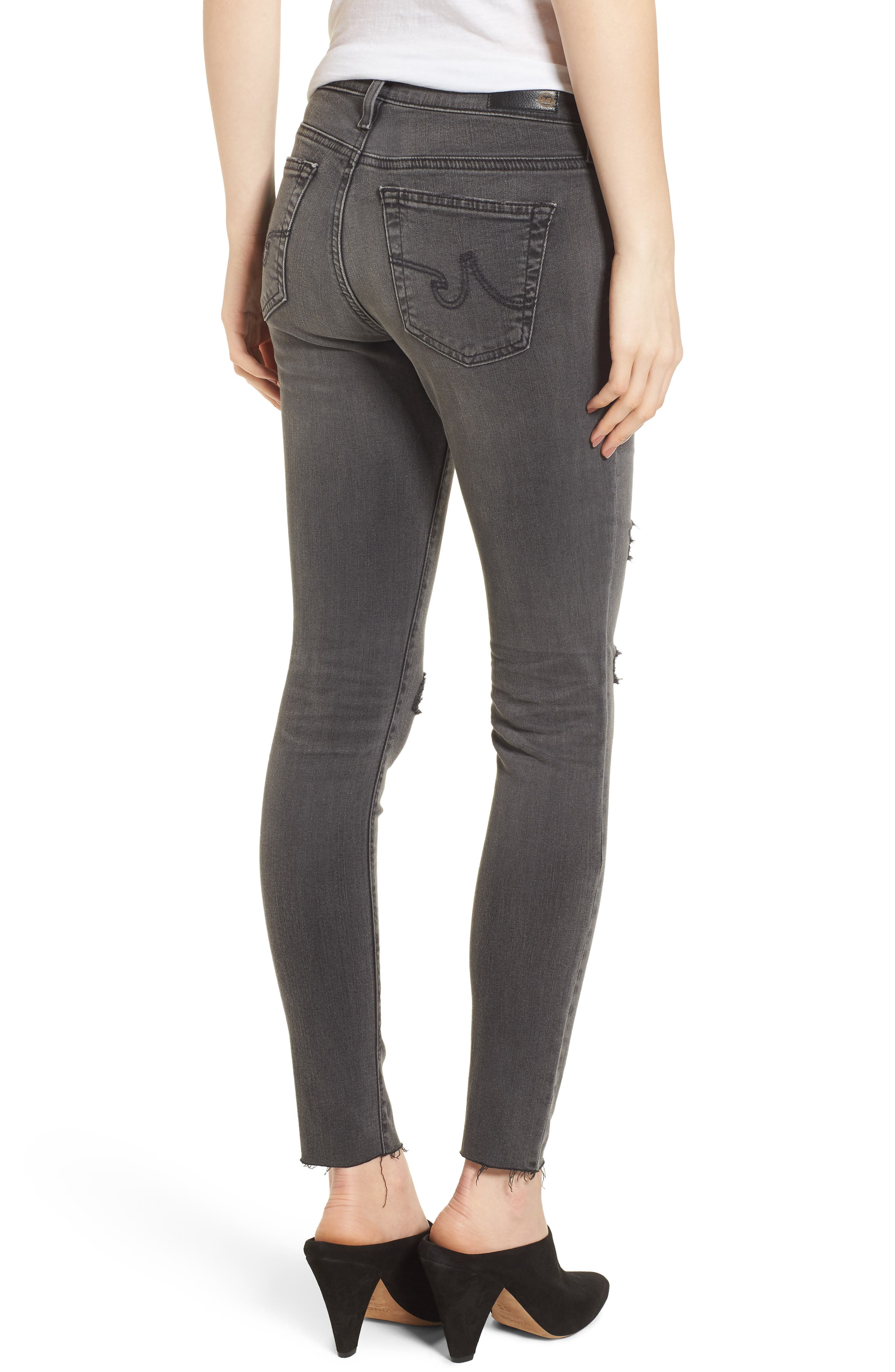 The Legging Super Skinny Jeans,                             Alternate thumbnail 2, color,                             10 YEARS-STONE ASH