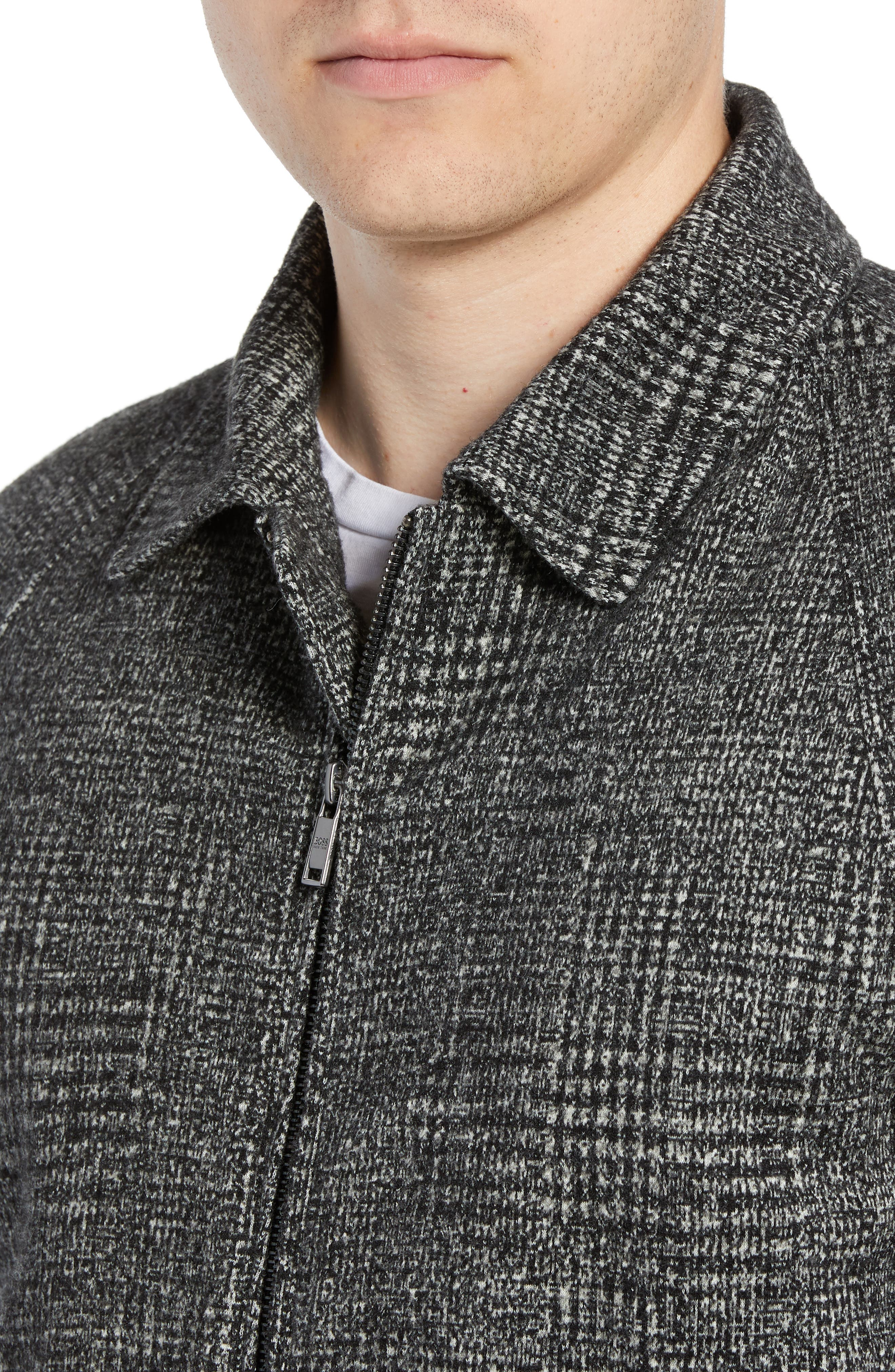 T-Cony Relaxed Fit Wool Blend Jacket,                             Alternate thumbnail 4, color,                             GREY