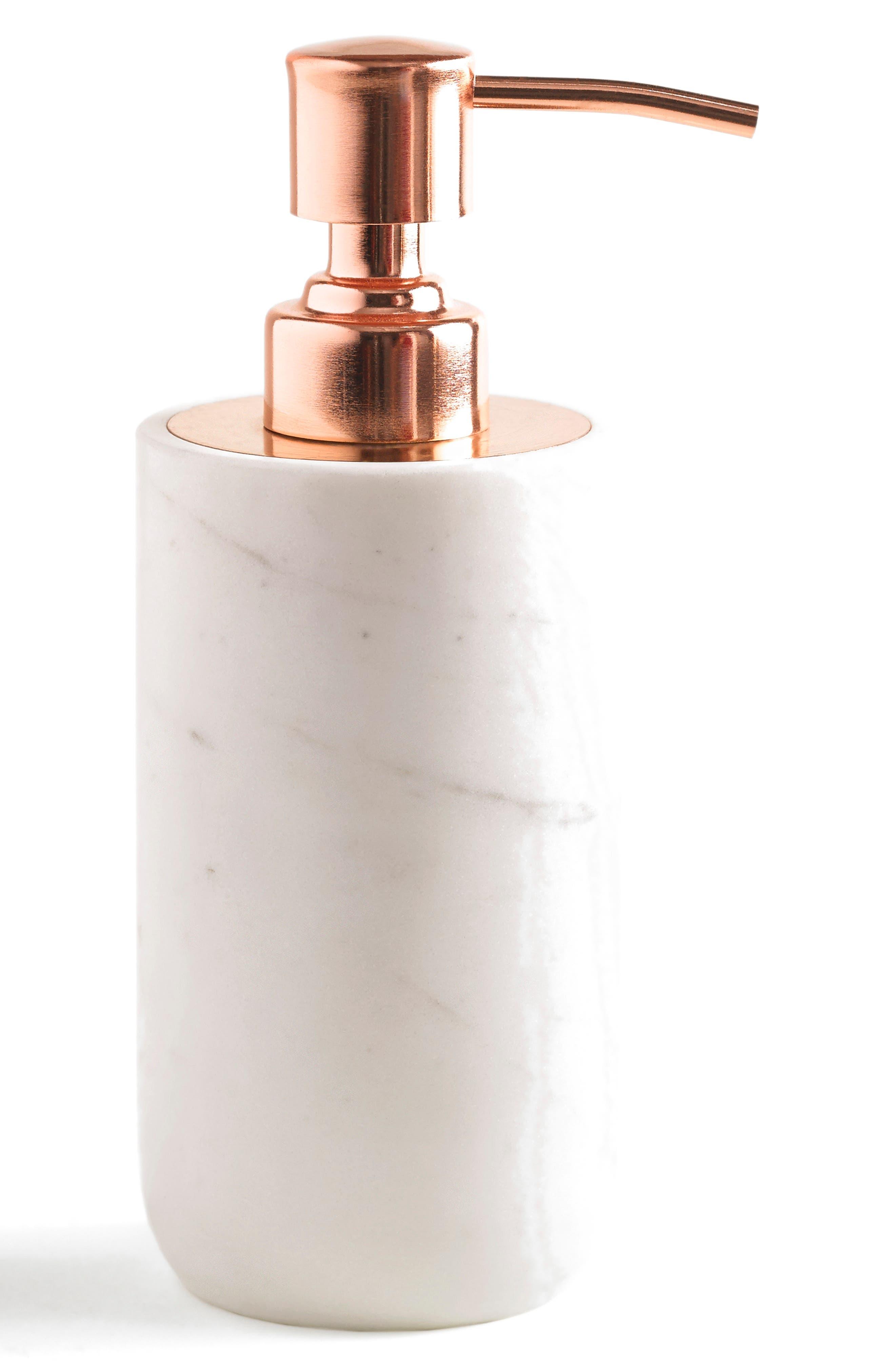Pietra Lotion Dispenser,                             Main thumbnail 1, color,                             CALACATTA MARBLE