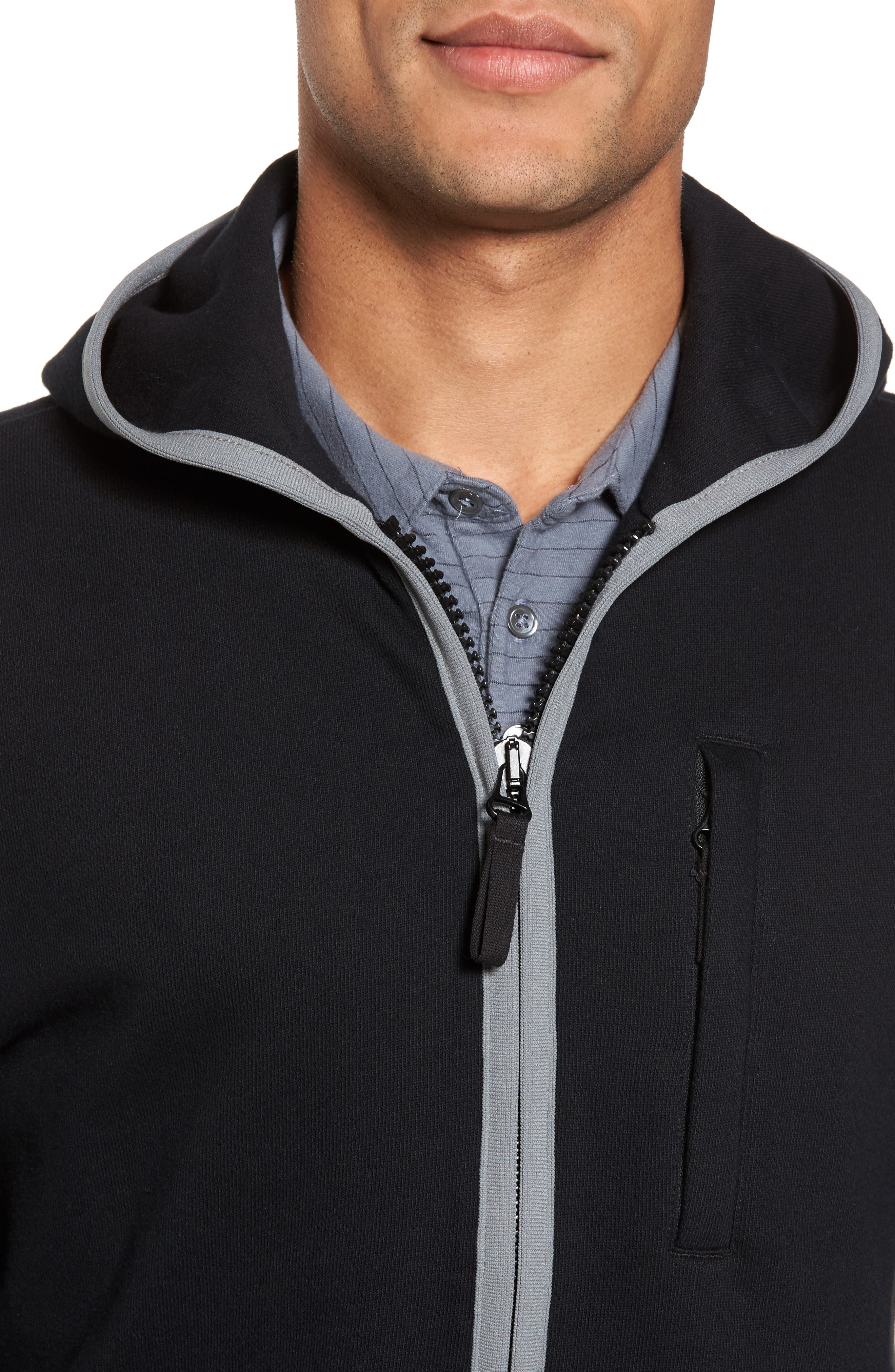 French Terry Zip Hoodie,                             Alternate thumbnail 4, color,                             015