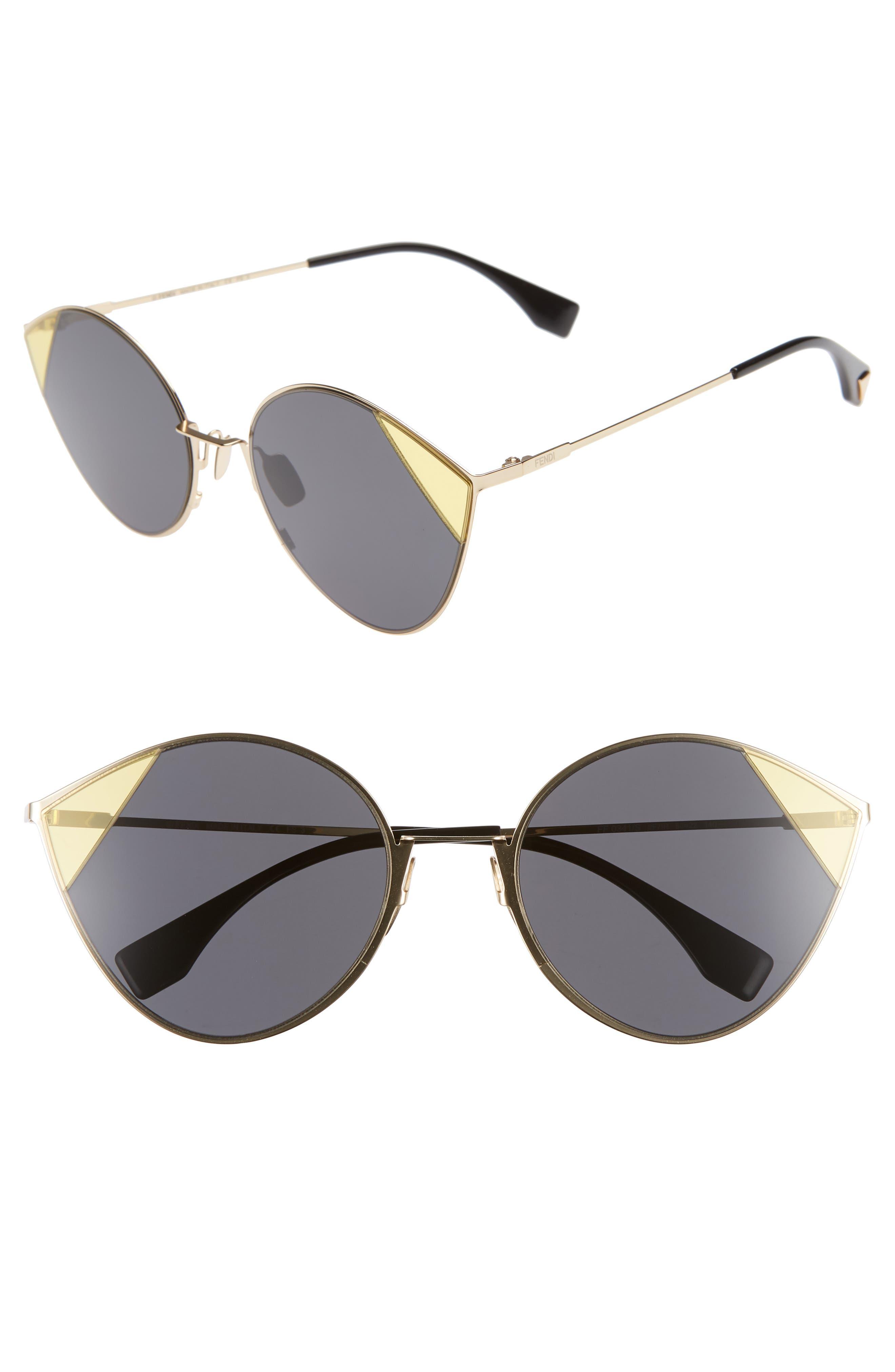 60Mm Cat Eye Sunglasses - Antique Gold/ Grey