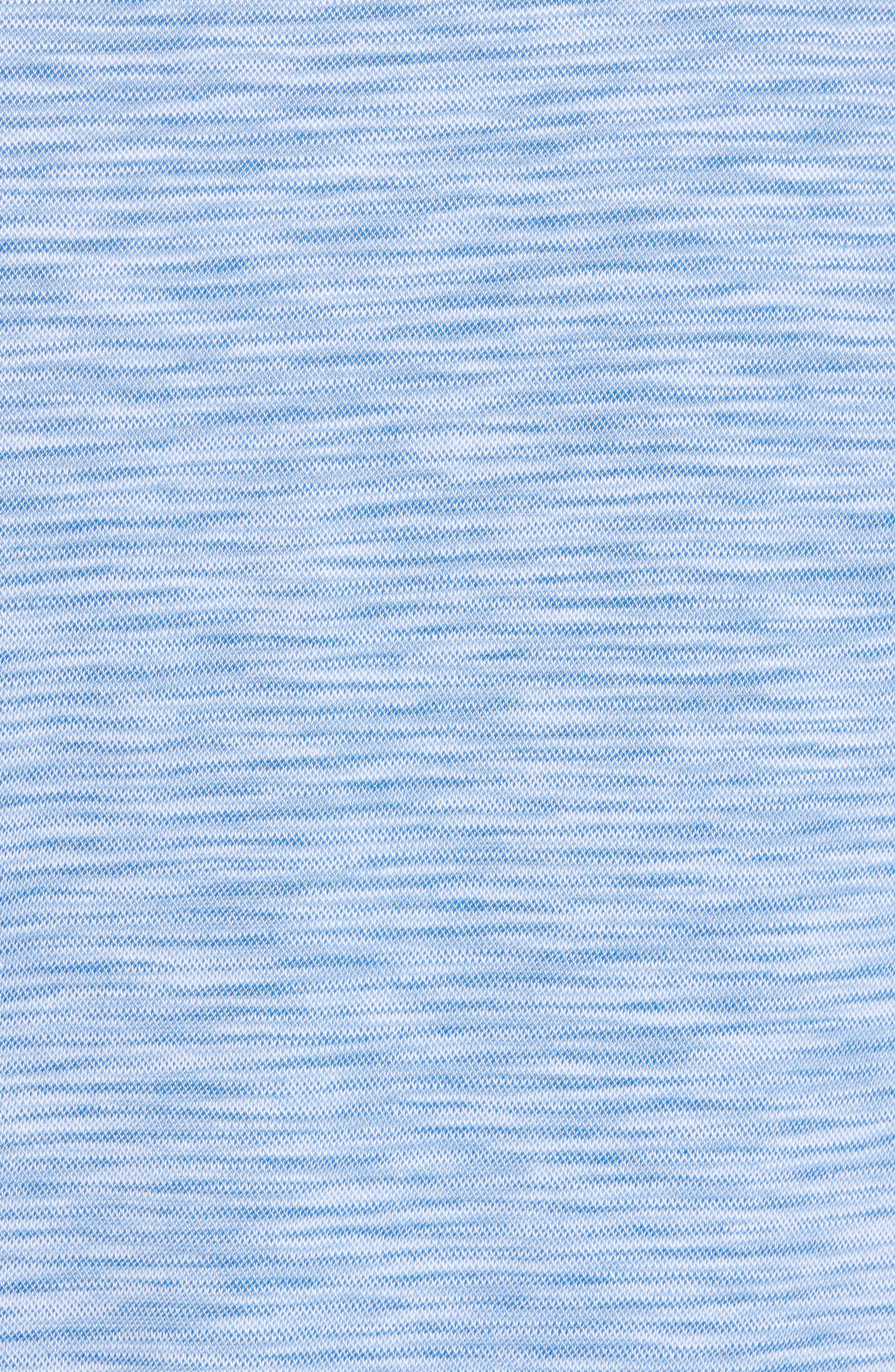Marled Stripe Polo,                             Alternate thumbnail 5, color,                             CLASSIC BLUE