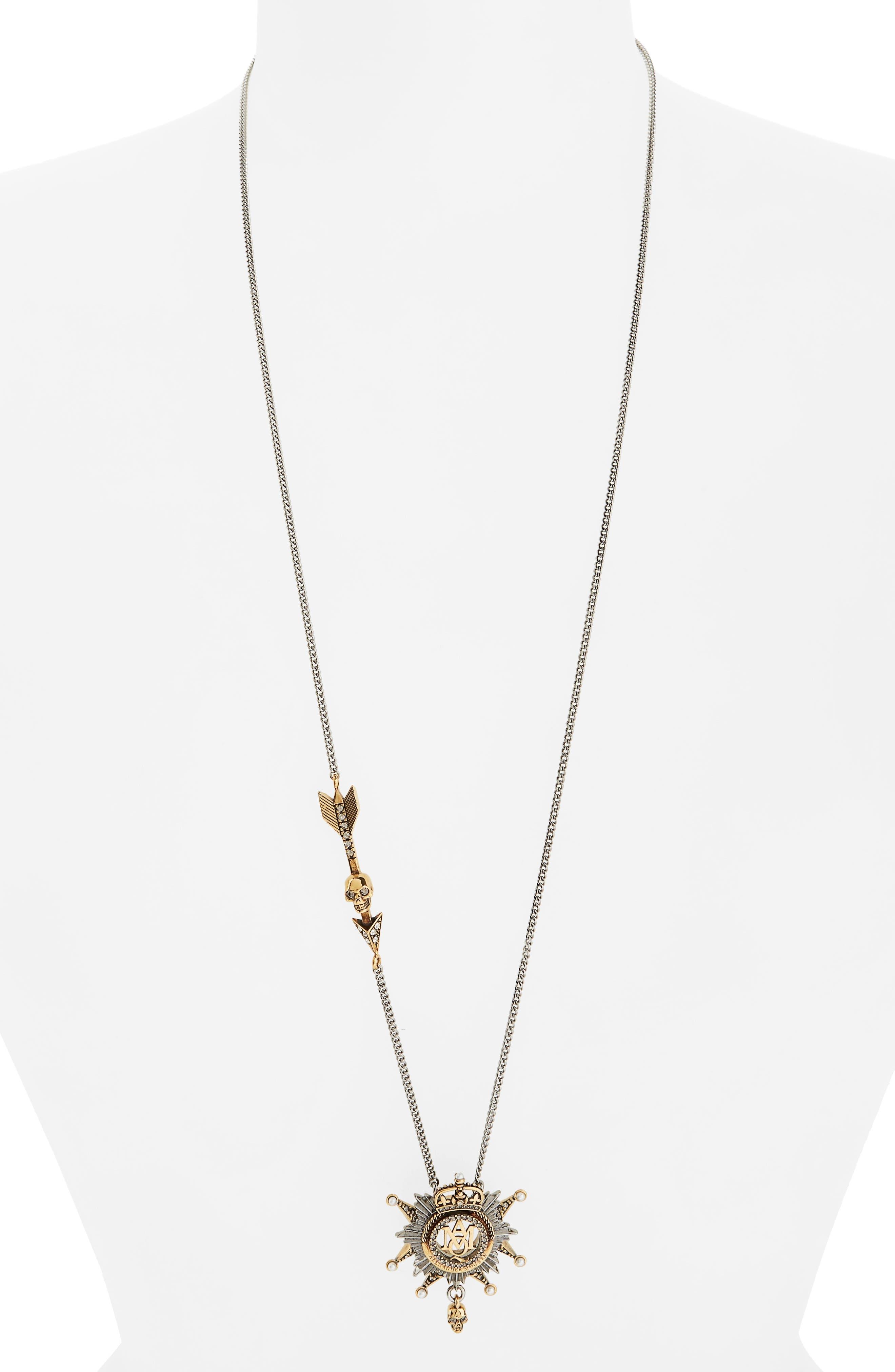 Medallion Pendant Necklace, Main, color, 712