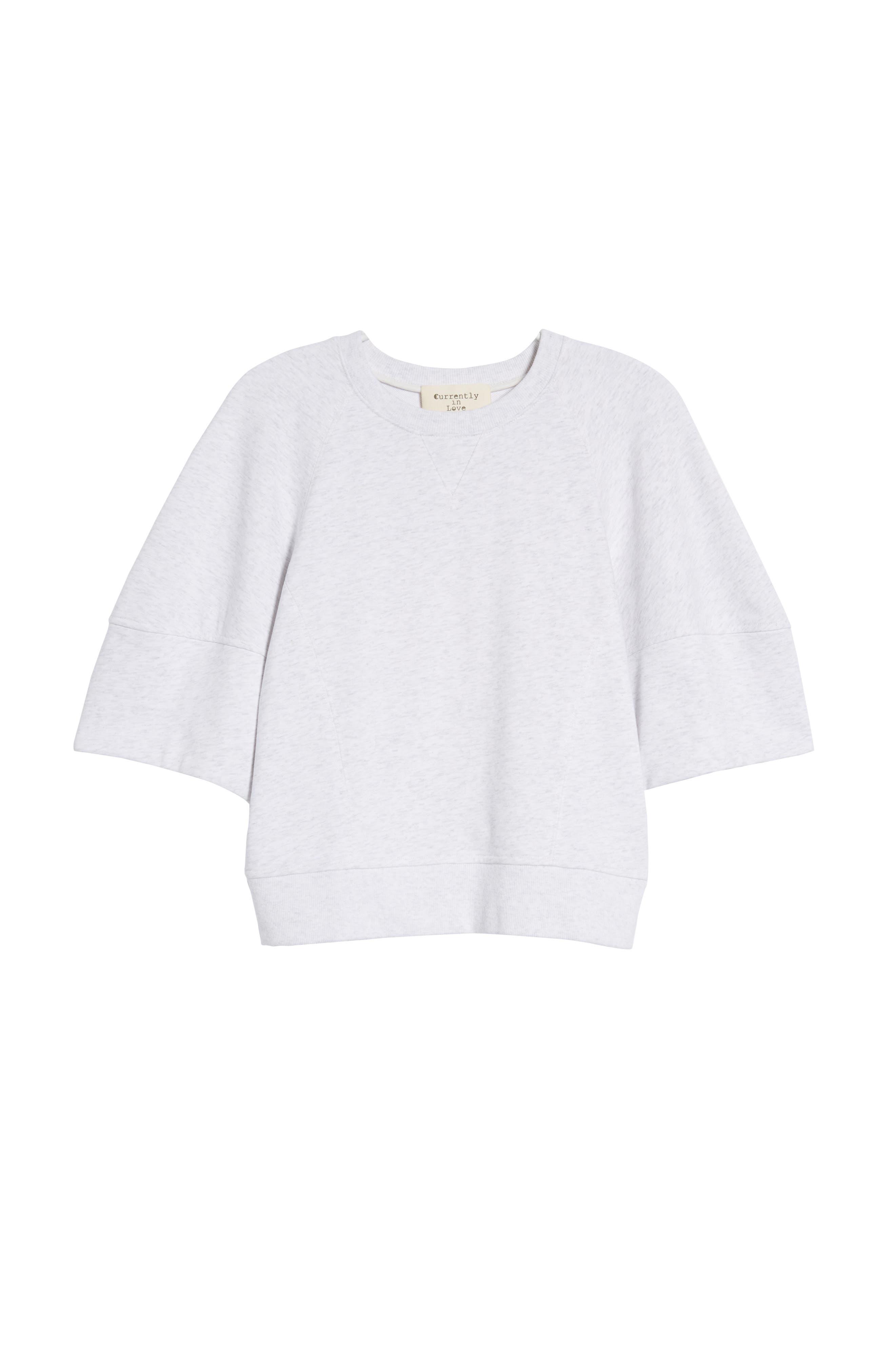 Puff Sleeve Sweatshirt,                             Alternate thumbnail 7, color,                             025