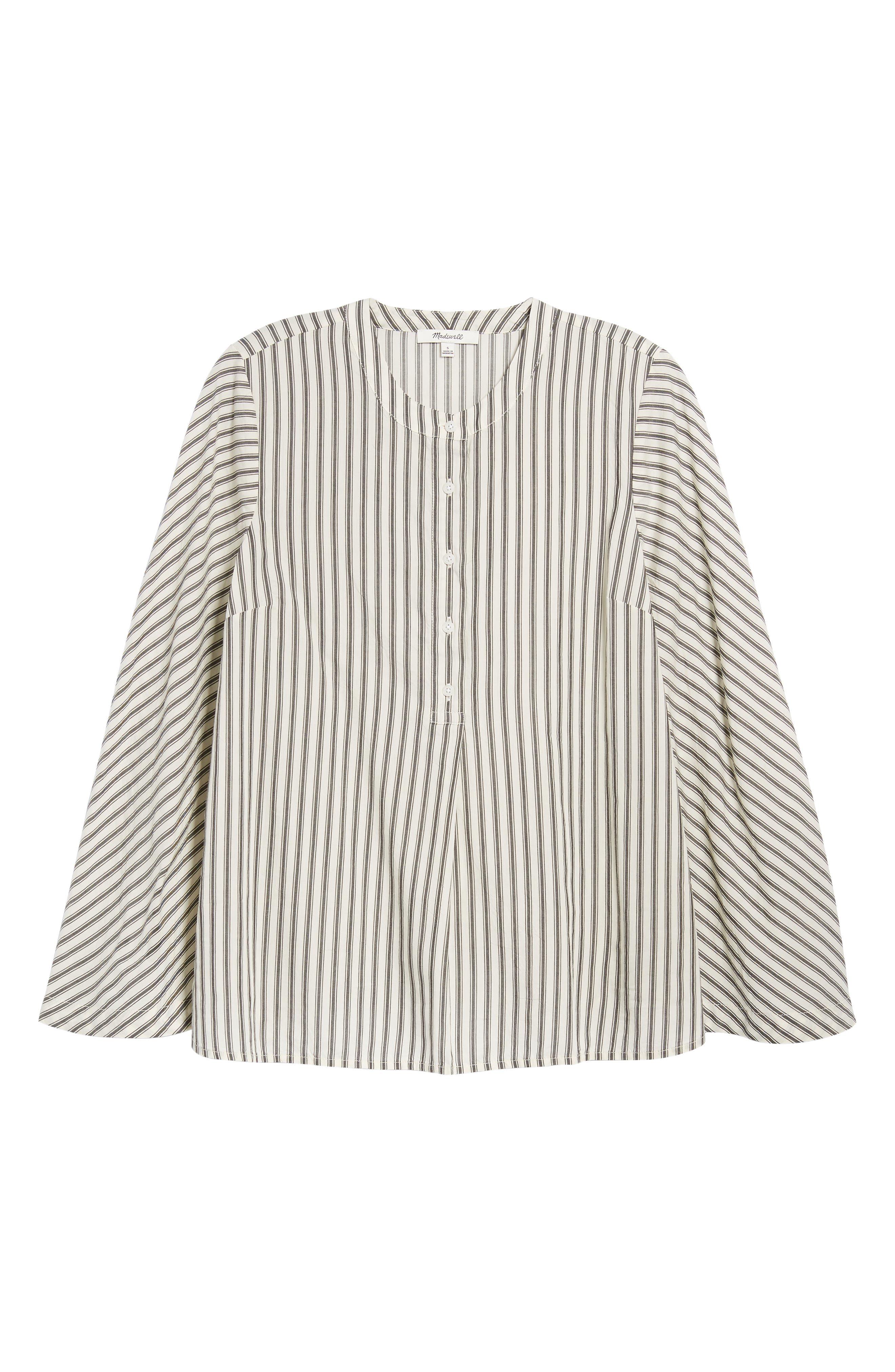 Stripe Flare Sleeve Shirt,                             Alternate thumbnail 6, color,                             190
