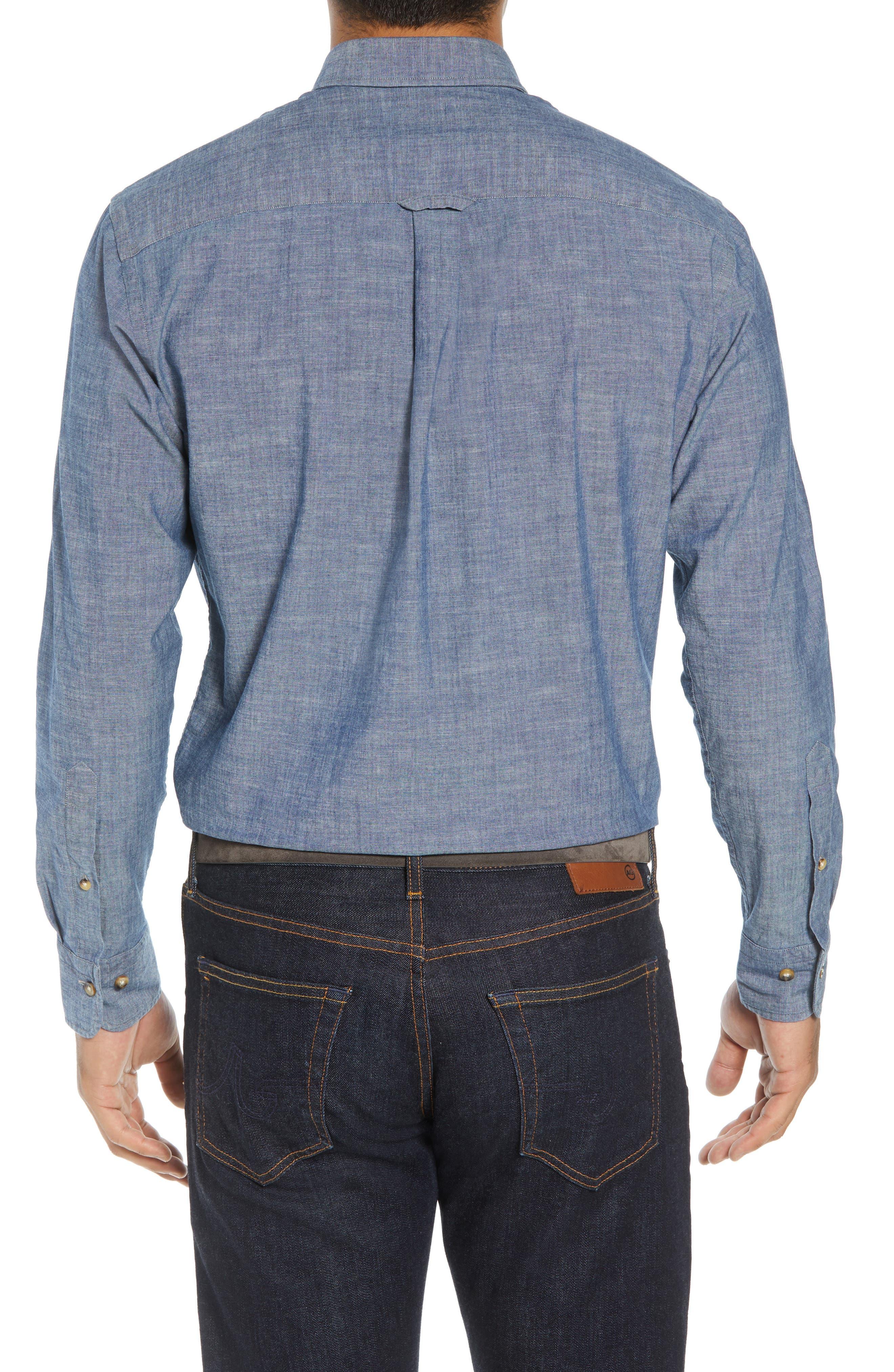 Blue Ridge Regular Fit Indigo Sport Shirt,                             Alternate thumbnail 3, color,                             INDIGO