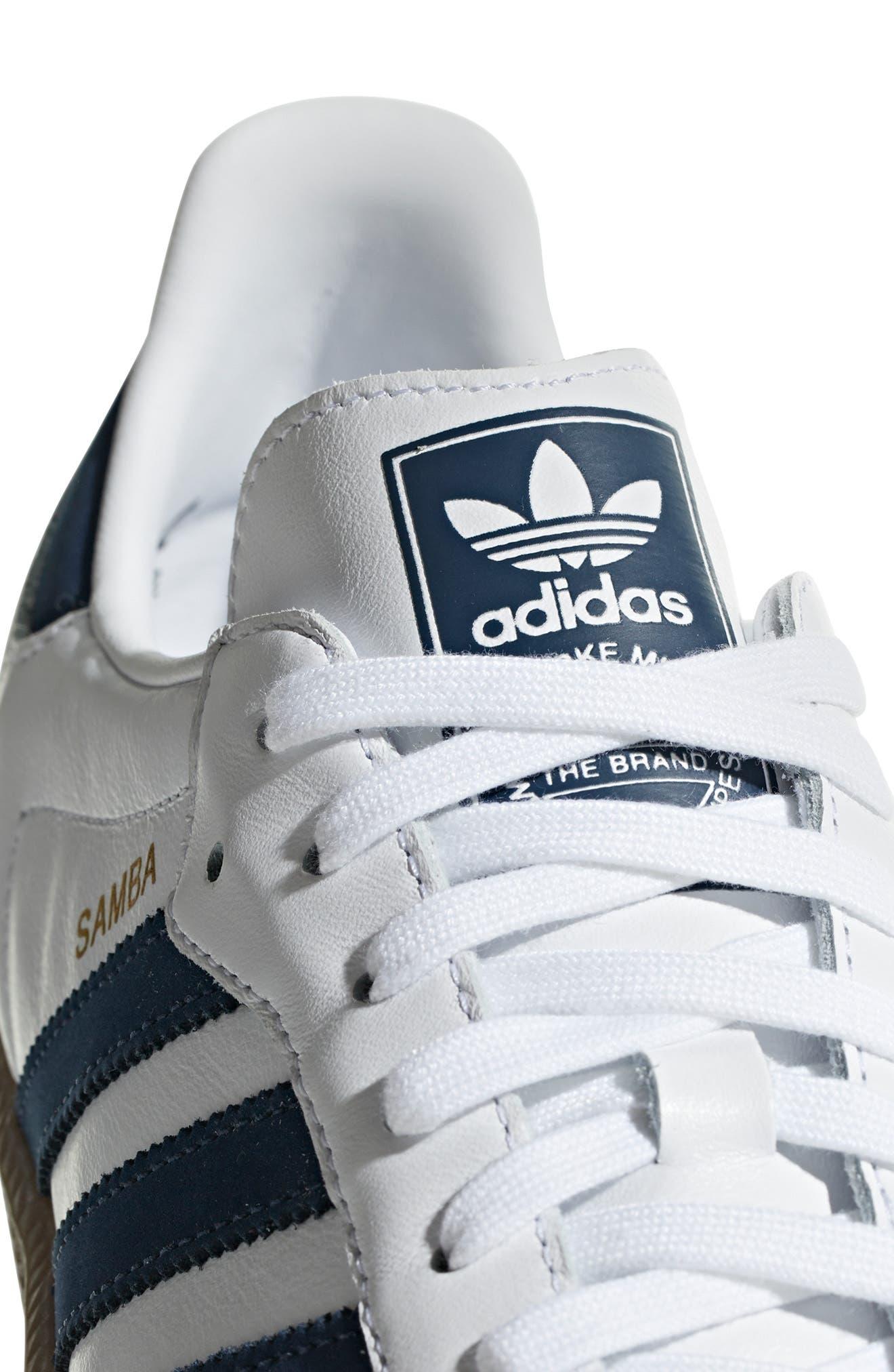 Samba OG Sneaker,                             Alternate thumbnail 9, color,                             WHITE/ NAVY / CRYSTAL WHITE