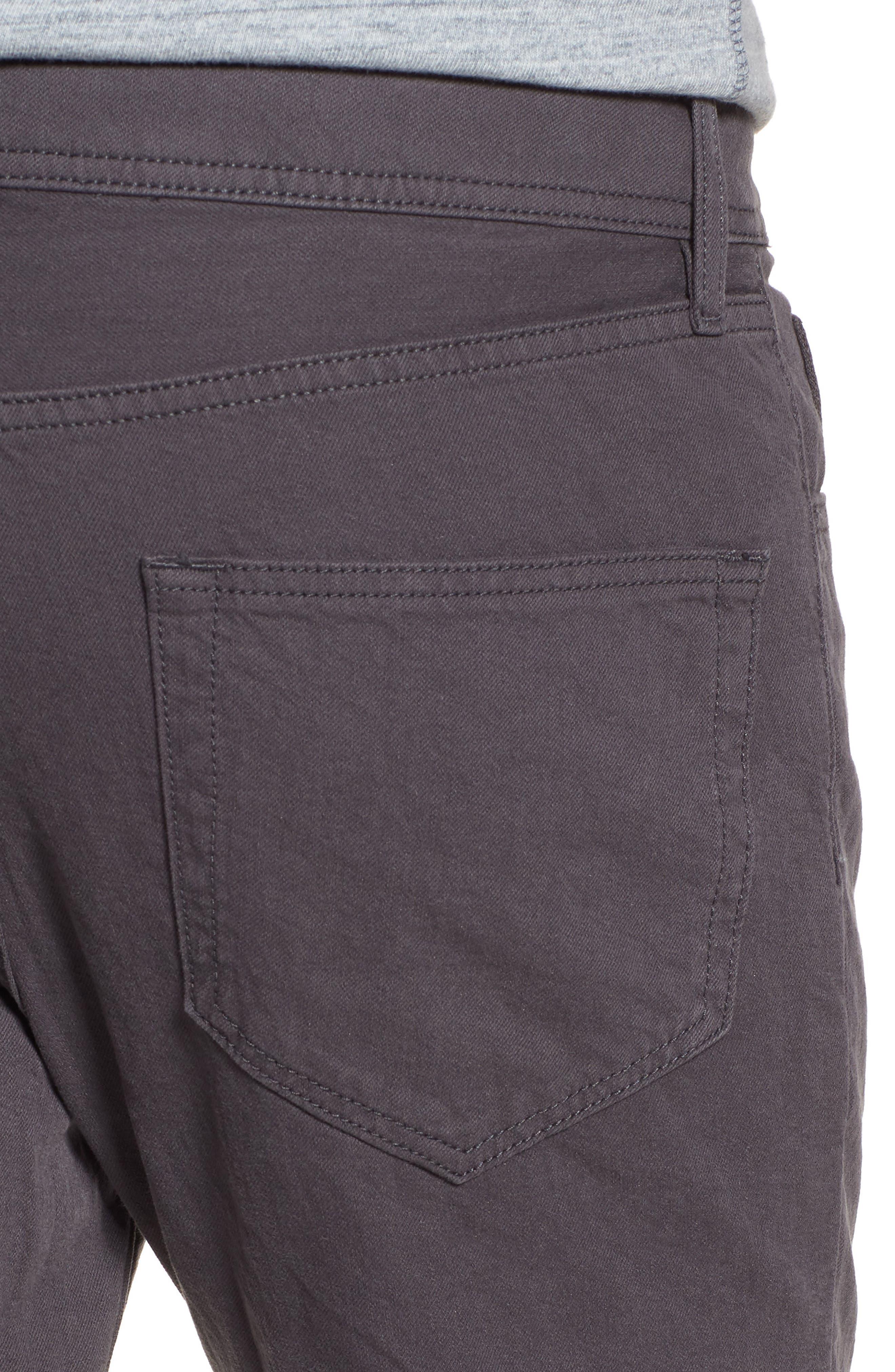Slim Fit Twill Pants,                             Alternate thumbnail 4, color,                             037