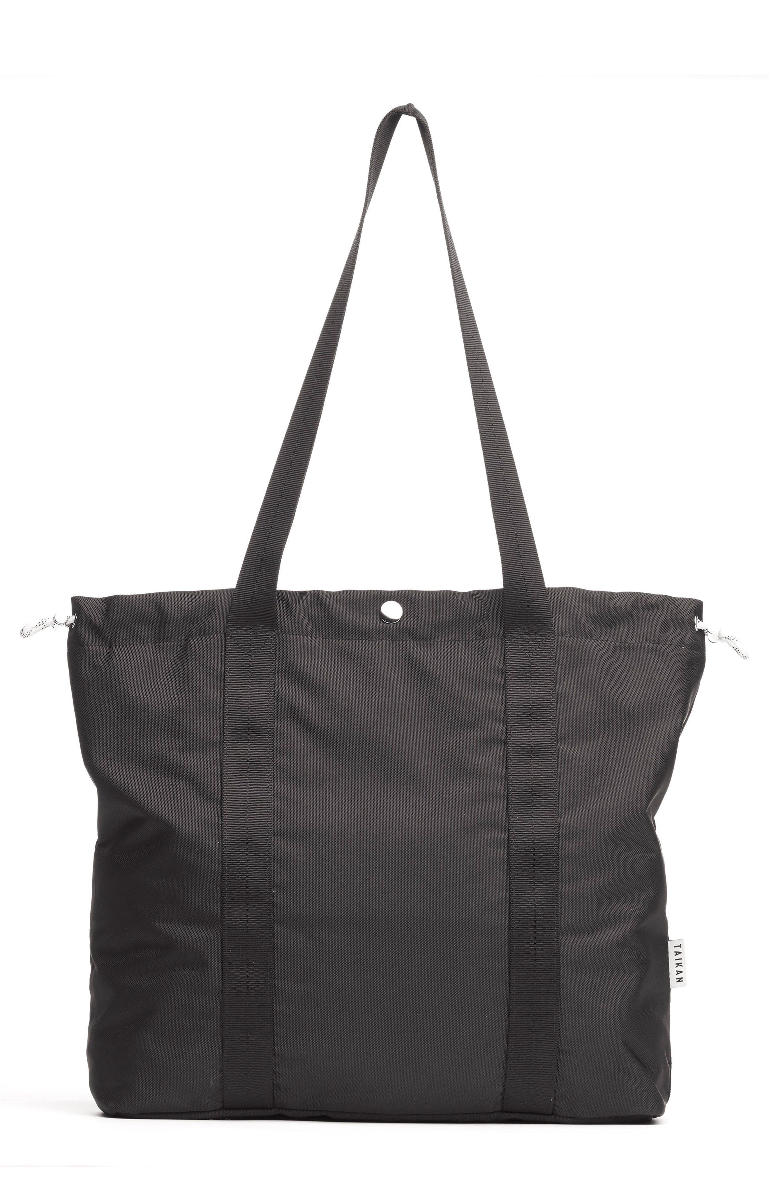 Flanker Tote Bag,                         Main,                         color, MATTE BLACK