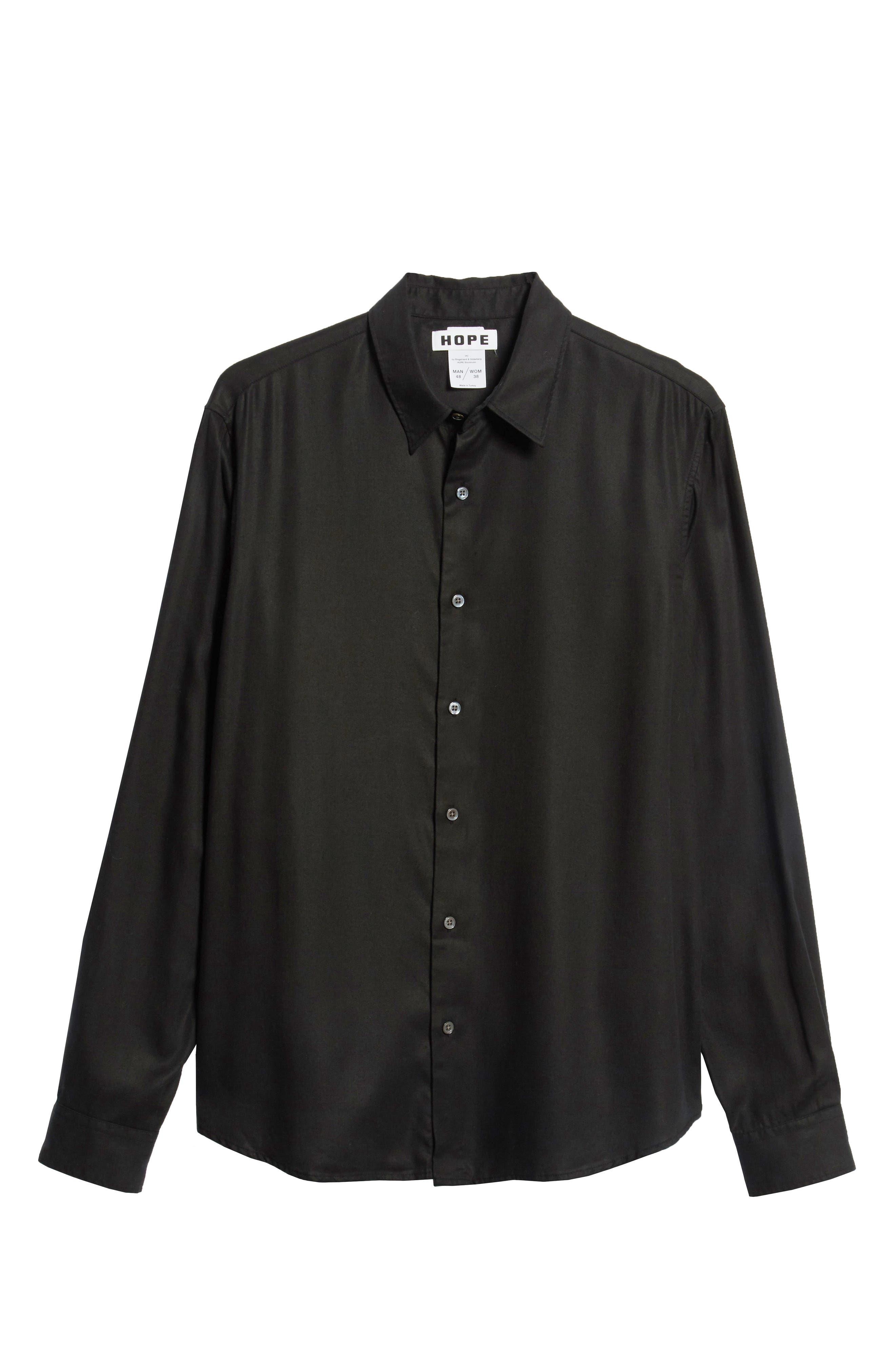 Air Clean Regular Fit Sport Shirt,                             Alternate thumbnail 5, color,                             BLACK