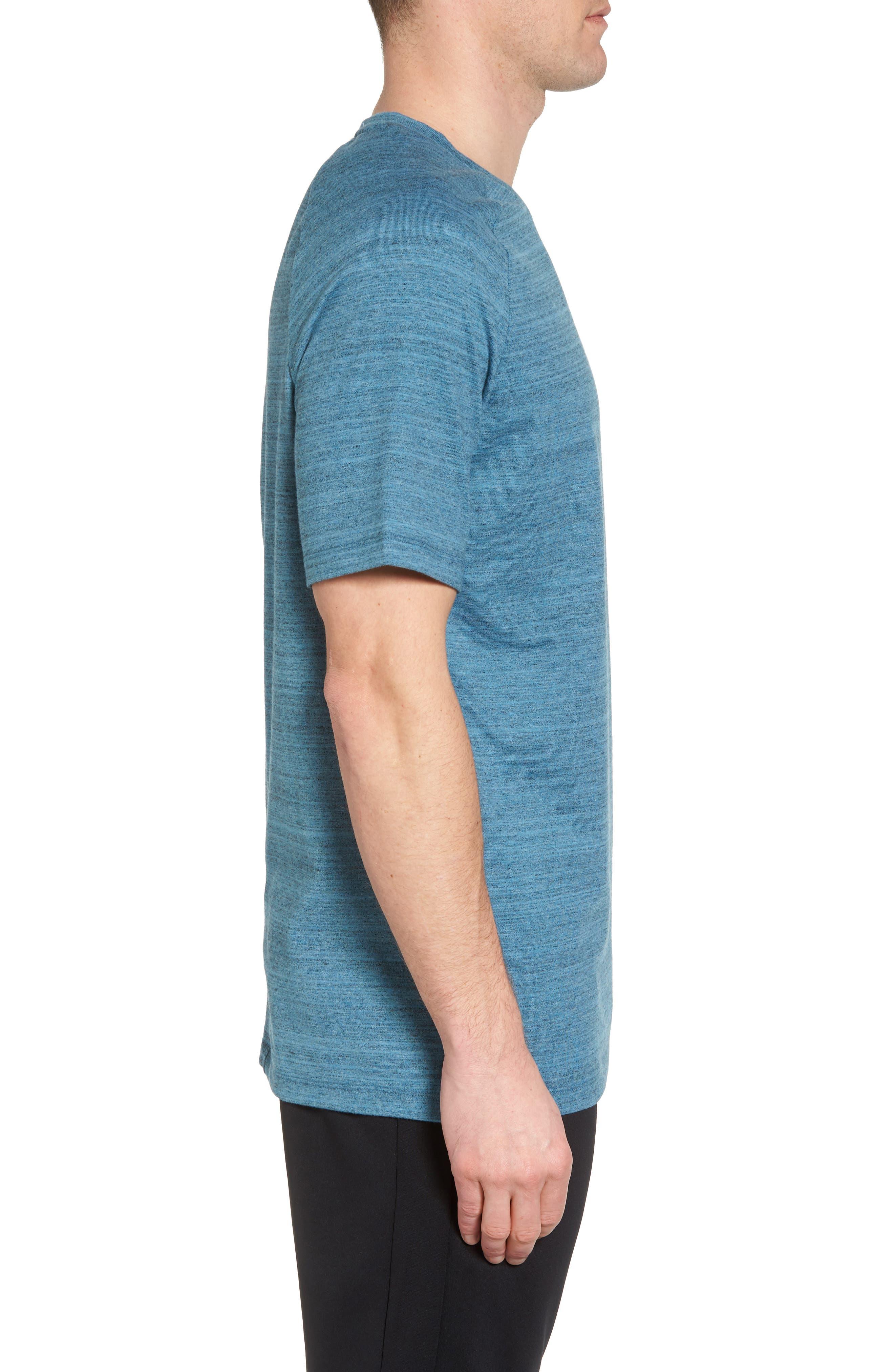 NSW AV15 Crewneck T-Shirt,                             Alternate thumbnail 3, color,                             NOISE AQUA/ HEATHER/ WHITE