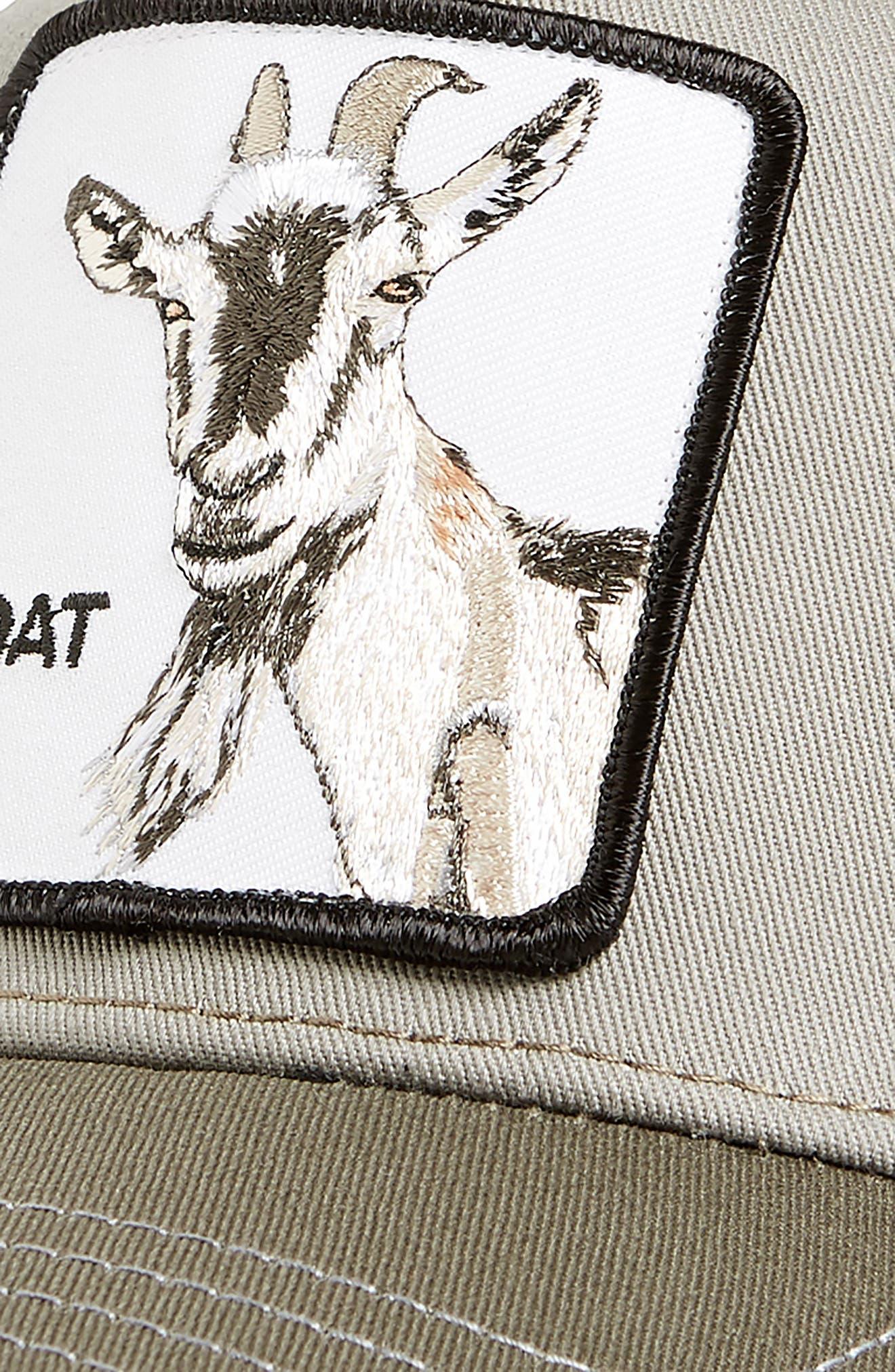 Goat Beard Trucker Hat,                             Alternate thumbnail 3, color,                             OLIVE