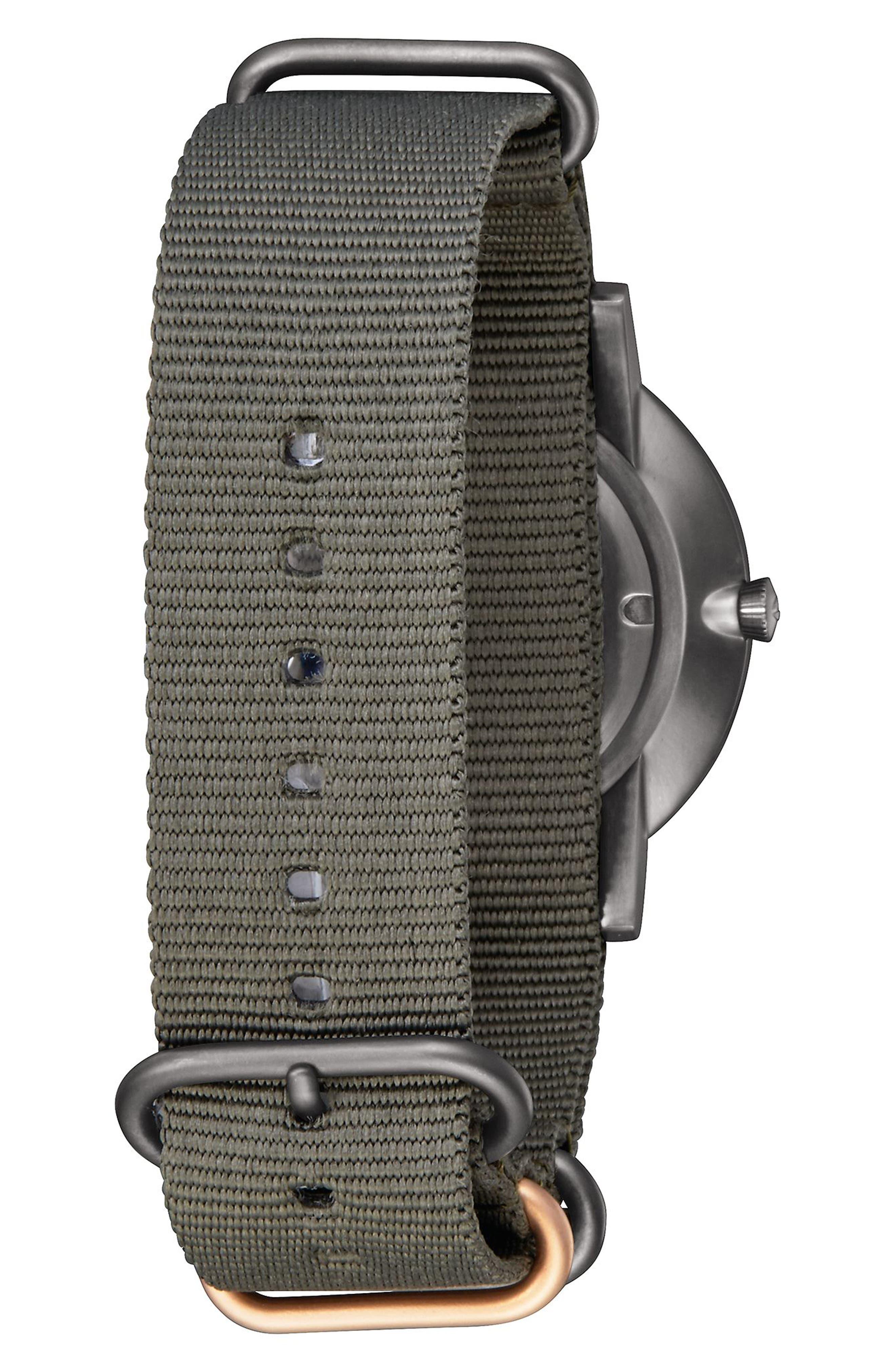 Porter Nylon Strap Watch, 40mm,                             Alternate thumbnail 9, color,