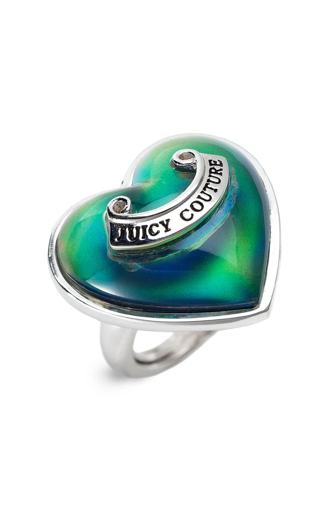 'Whimsical Gifting' Heart Mood Ring, Main, color, 040