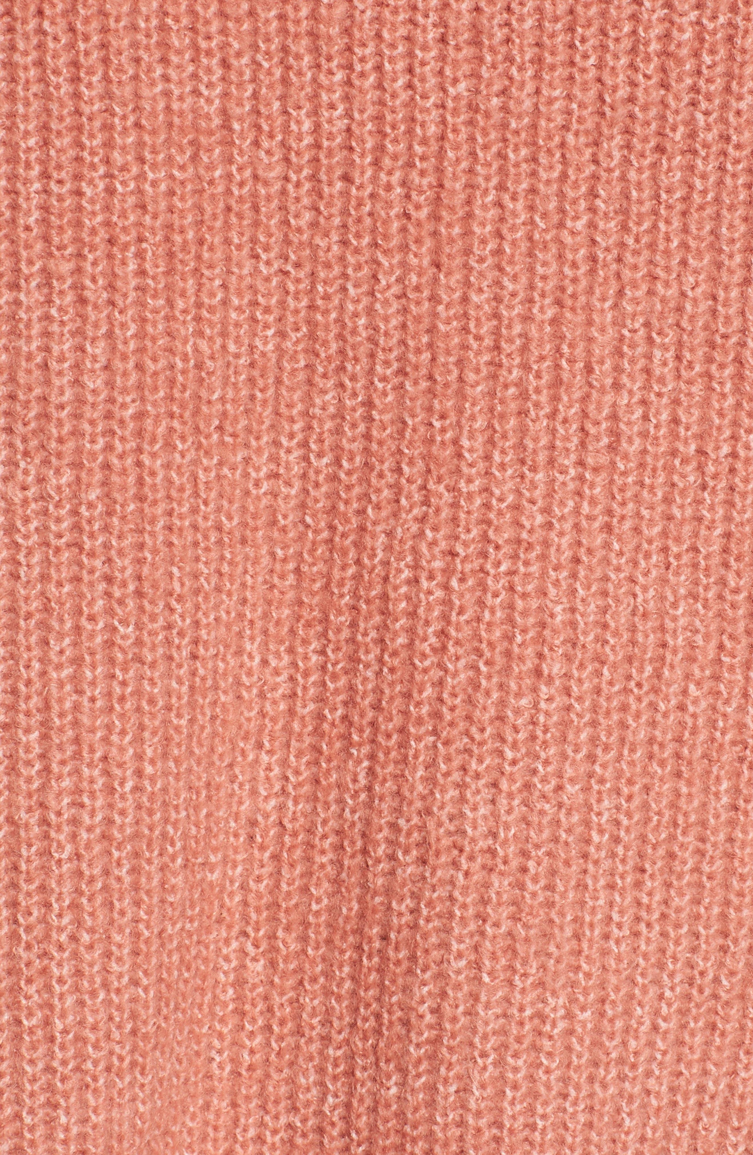 Ruffle Sleeve V-Neck Sweater,                             Alternate thumbnail 10, color,