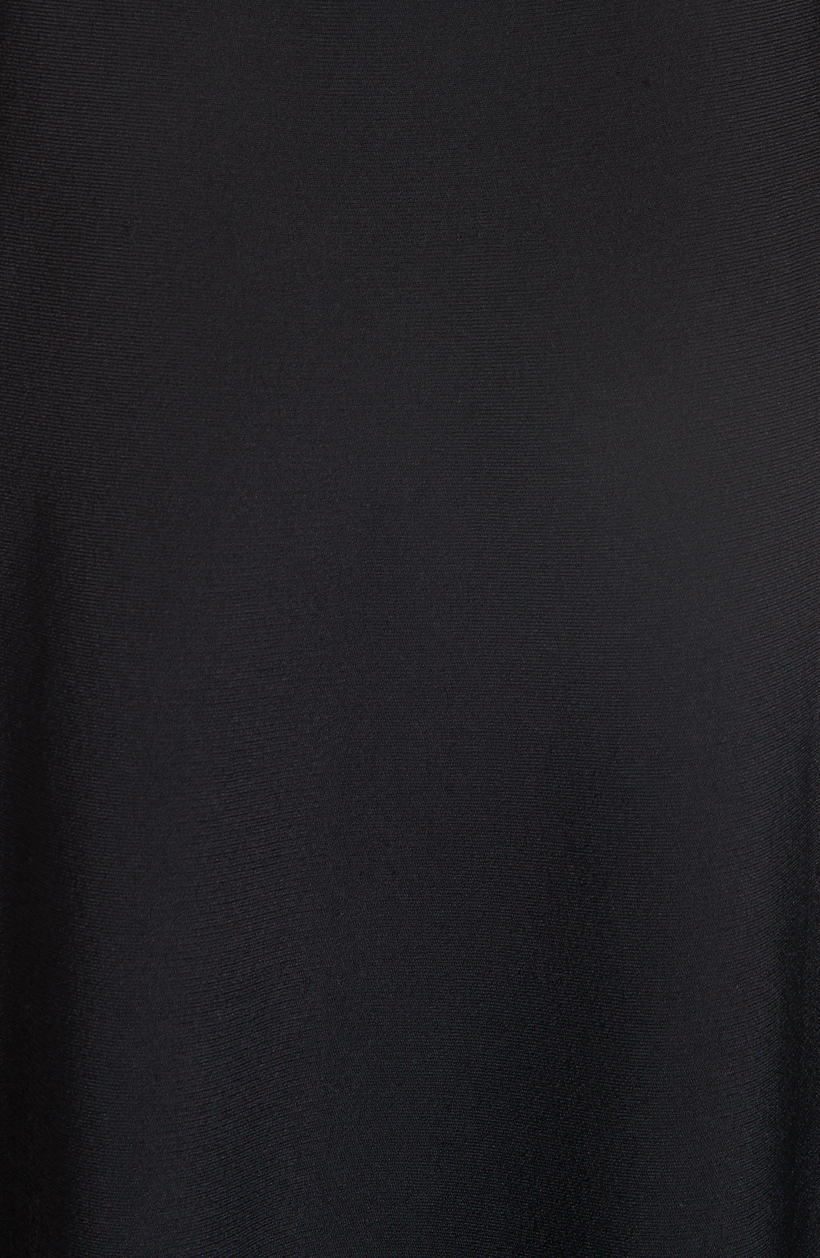 Chevron Hem A-Line Dress,                             Alternate thumbnail 6, color,                             10225 BLACK COMBO