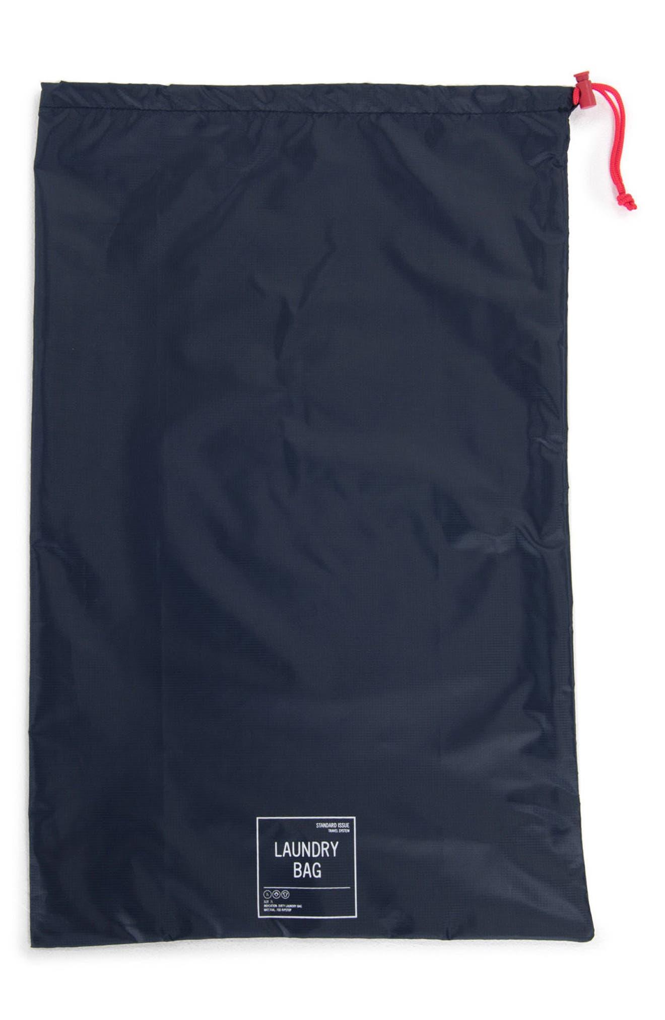 Laundry Bag Set,                             Alternate thumbnail 3, color,                             NAVY/ RED