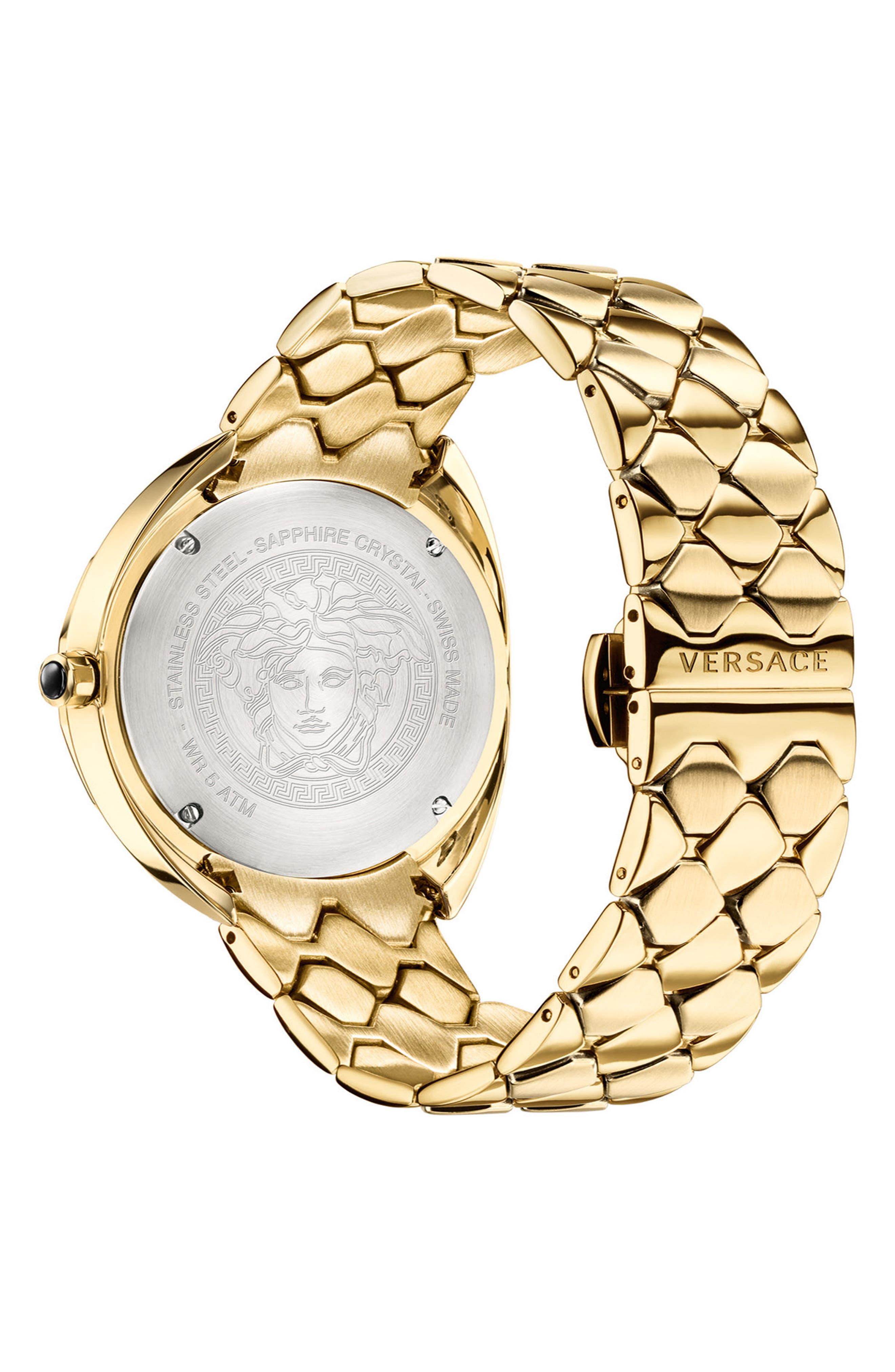 VERSACE,                             Shadov Bracelet Watch, 38mm,                             Alternate thumbnail 2, color,                             GOLD
