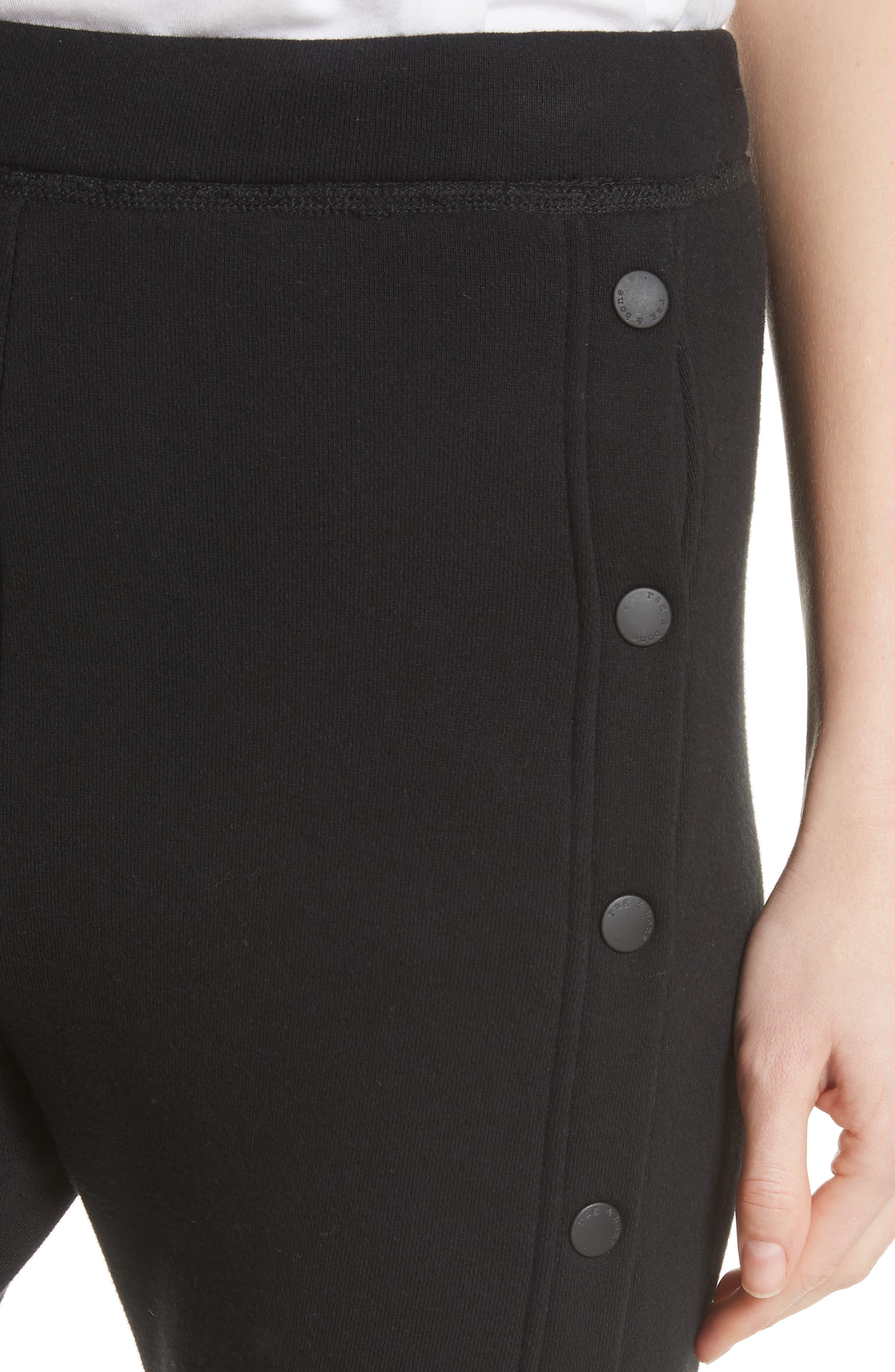 Side Snap Track Pants,                             Alternate thumbnail 4, color,                             001