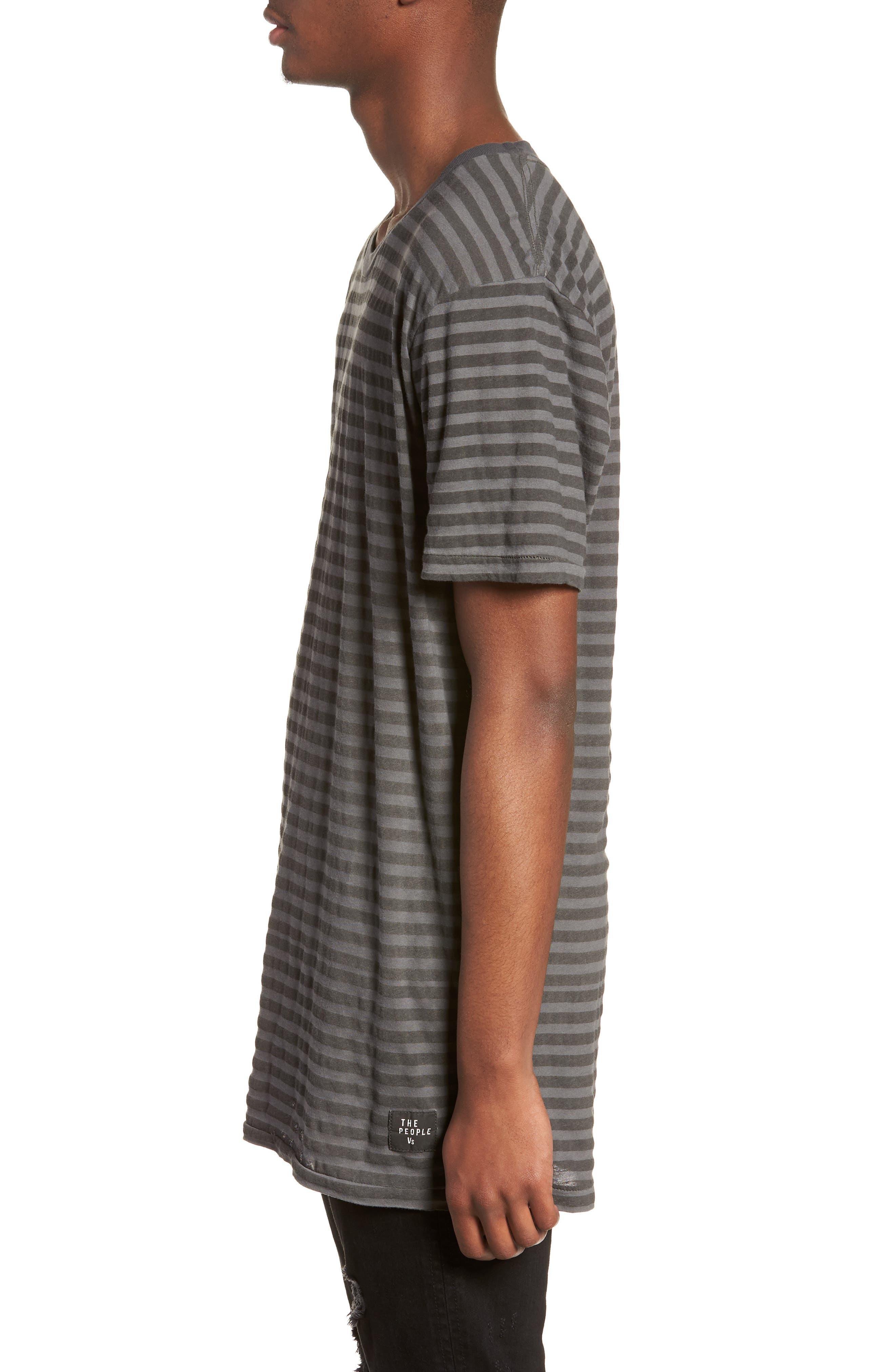 1CM Stripe T-Shirt,                             Alternate thumbnail 3, color,                             KHAKI/ BLACK STRIPE