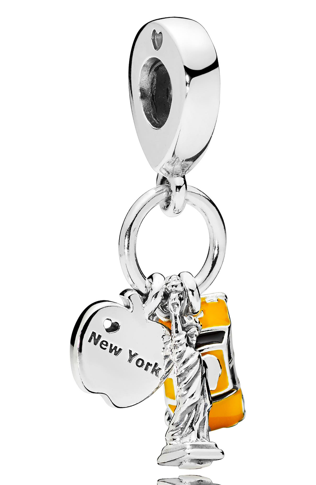 New York Highlights Dangle Charm, Main, color, SILVER