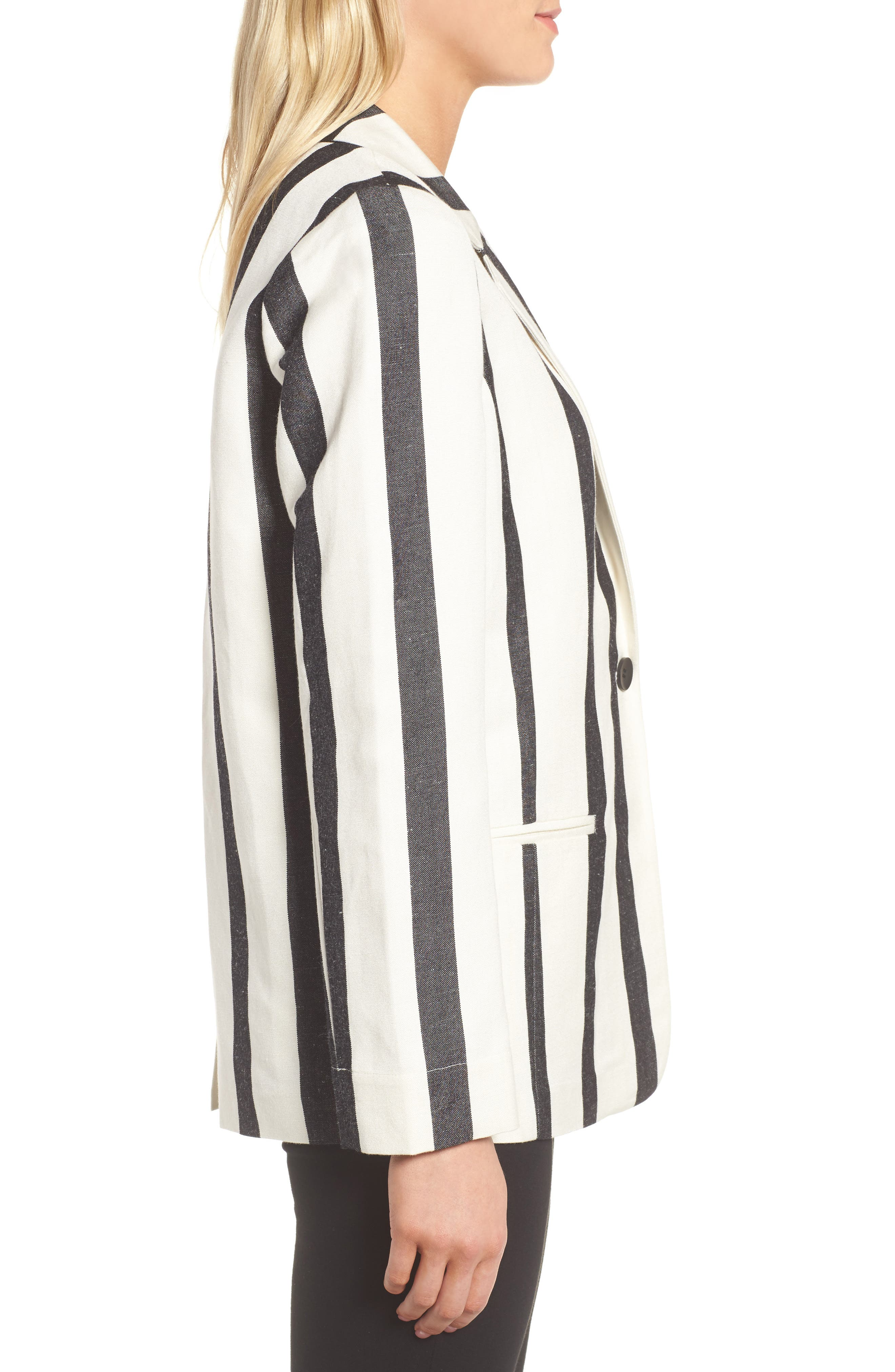 Stripe Blazer,                             Alternate thumbnail 3, color,