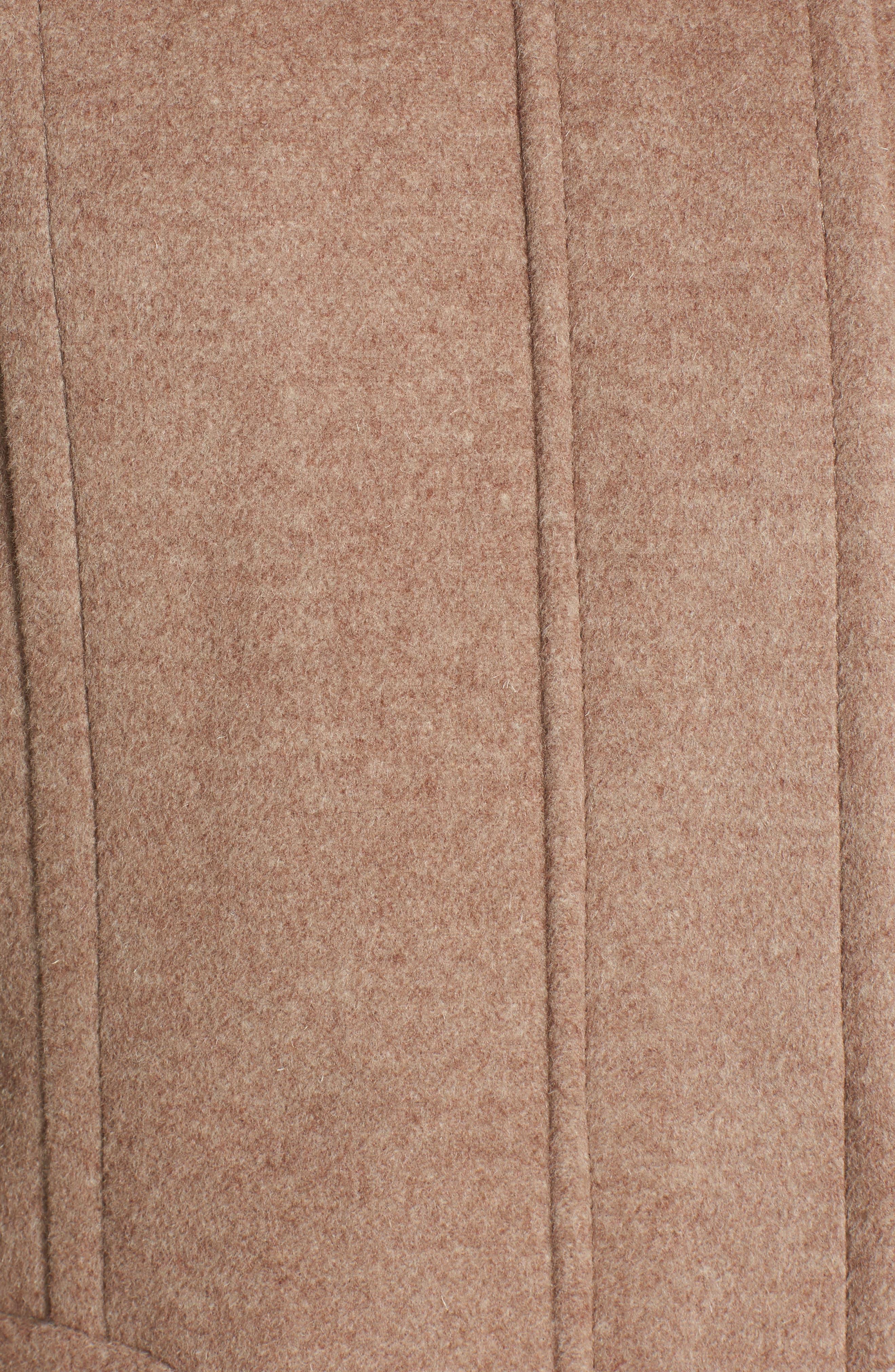 Hooded Wool Blend Coat with Genuine Fox Fur Trim,                             Alternate thumbnail 17, color,