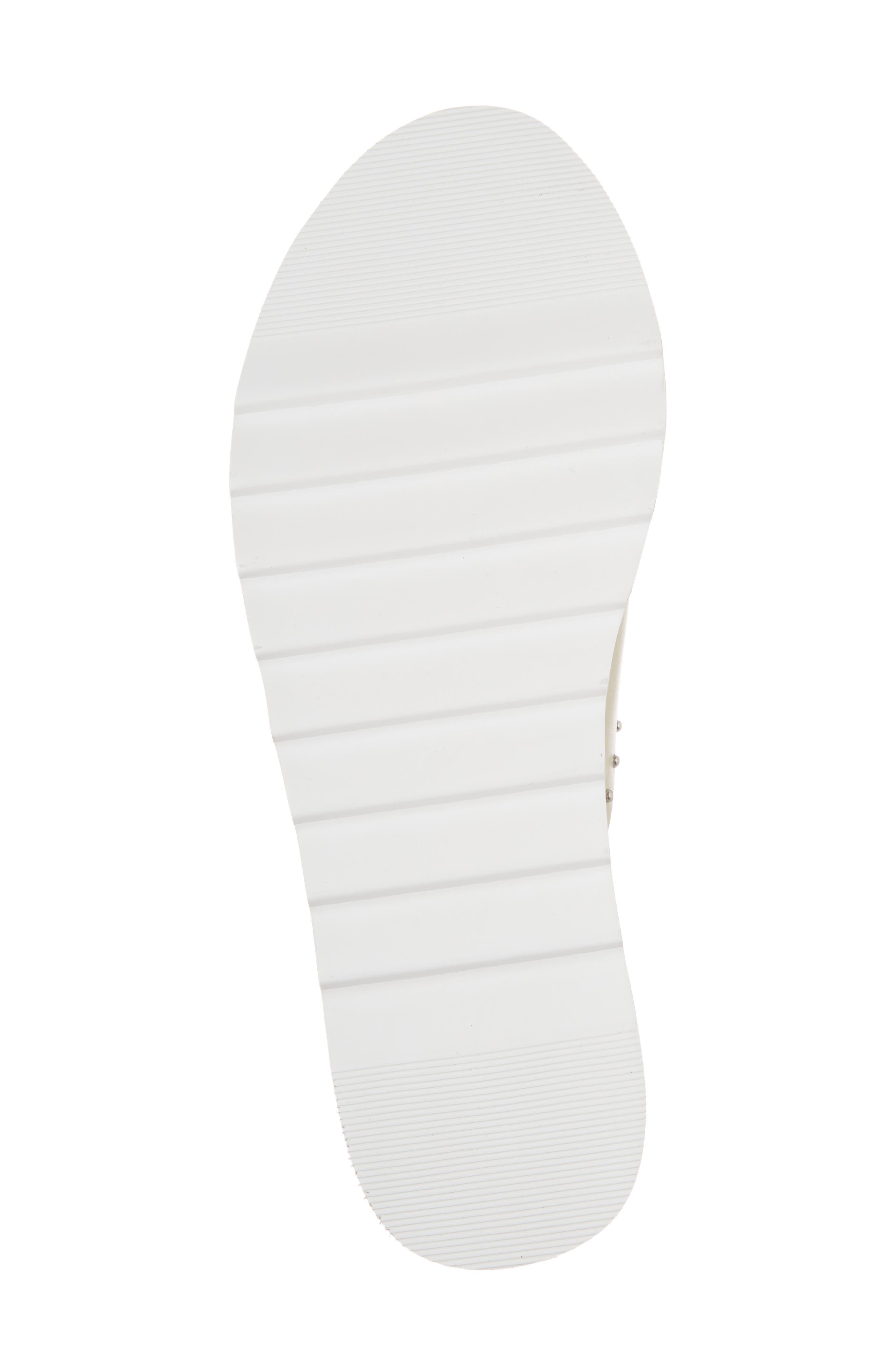 Buxom Sandal,                             Alternate thumbnail 6, color,                             WHITE LEATHER