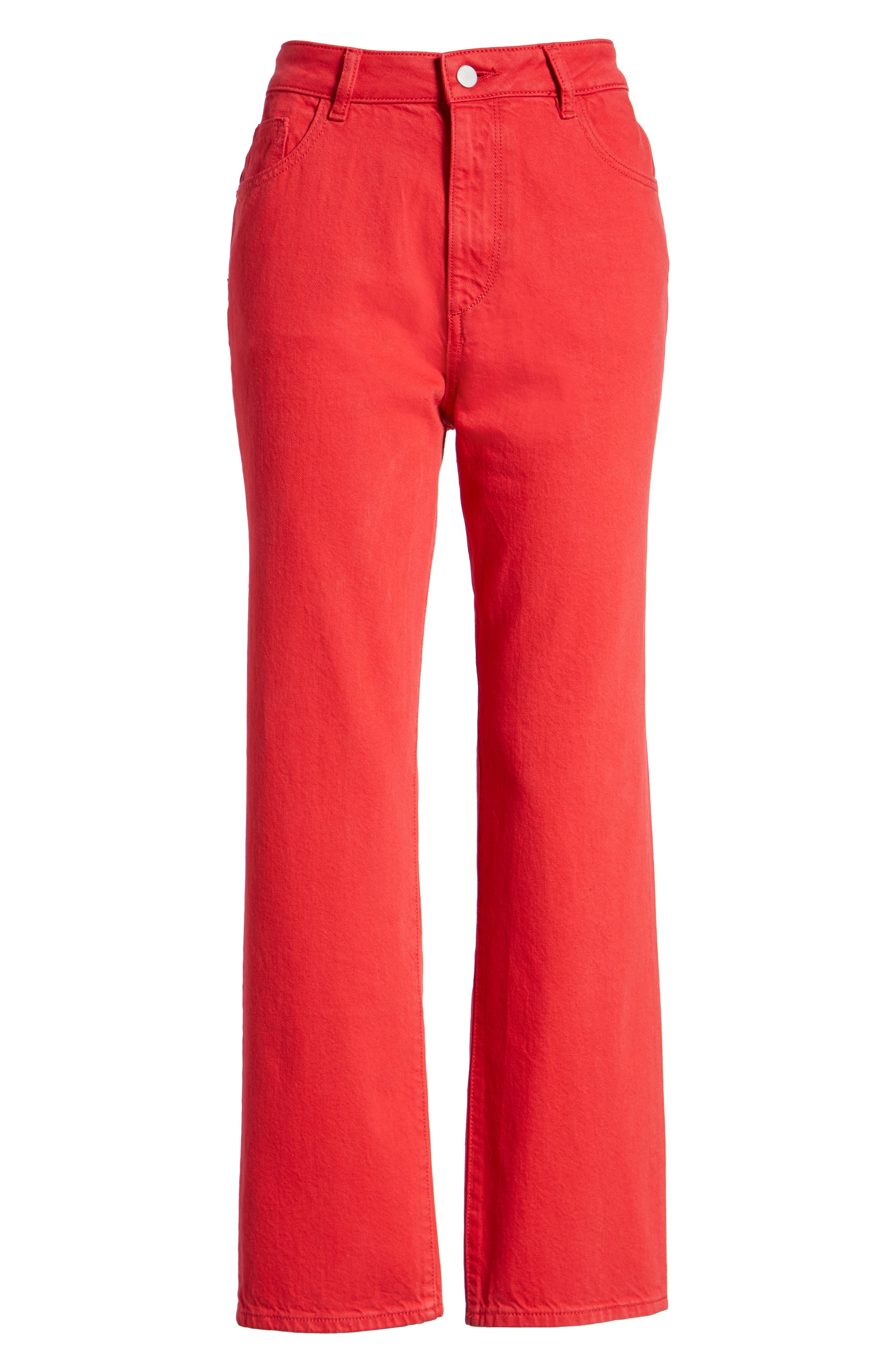 Jerry High Waist Straight Leg Jeans,                             Alternate thumbnail 7, color,                             600