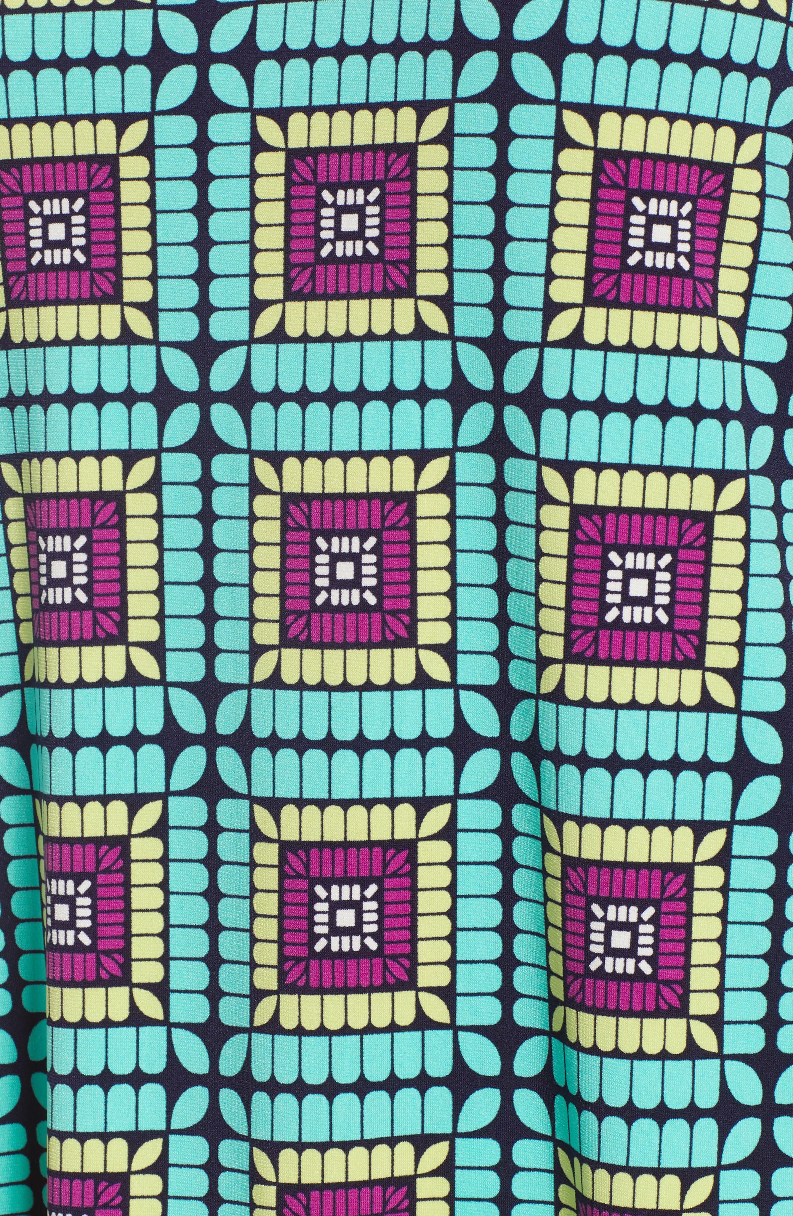 Plaza Tile Cold Shoulder Top,                             Alternate thumbnail 6, color,                             CASBAH TEAL