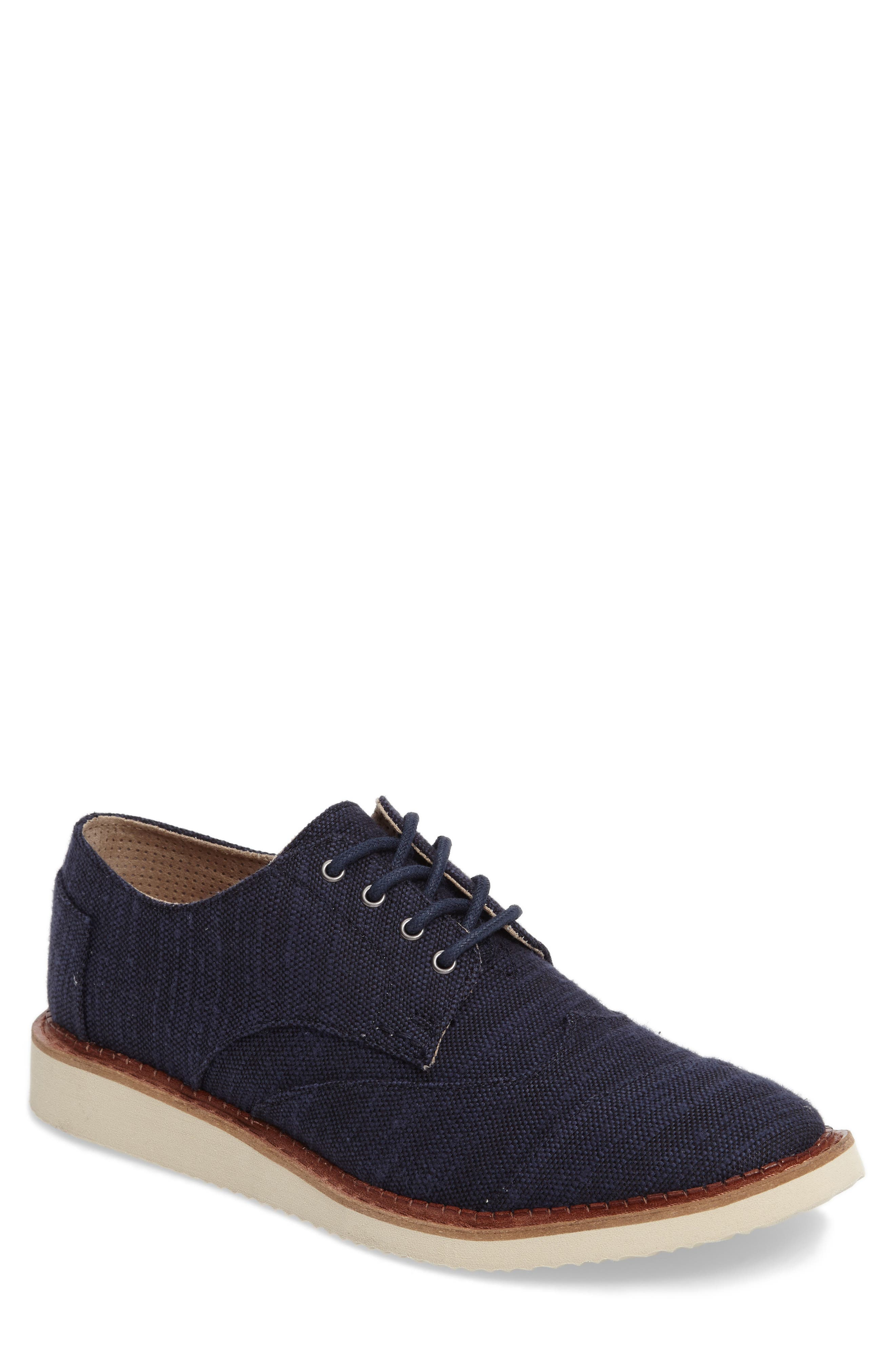'Classic Brogue' Cotton Twill Derby,                             Main thumbnail 13, color,