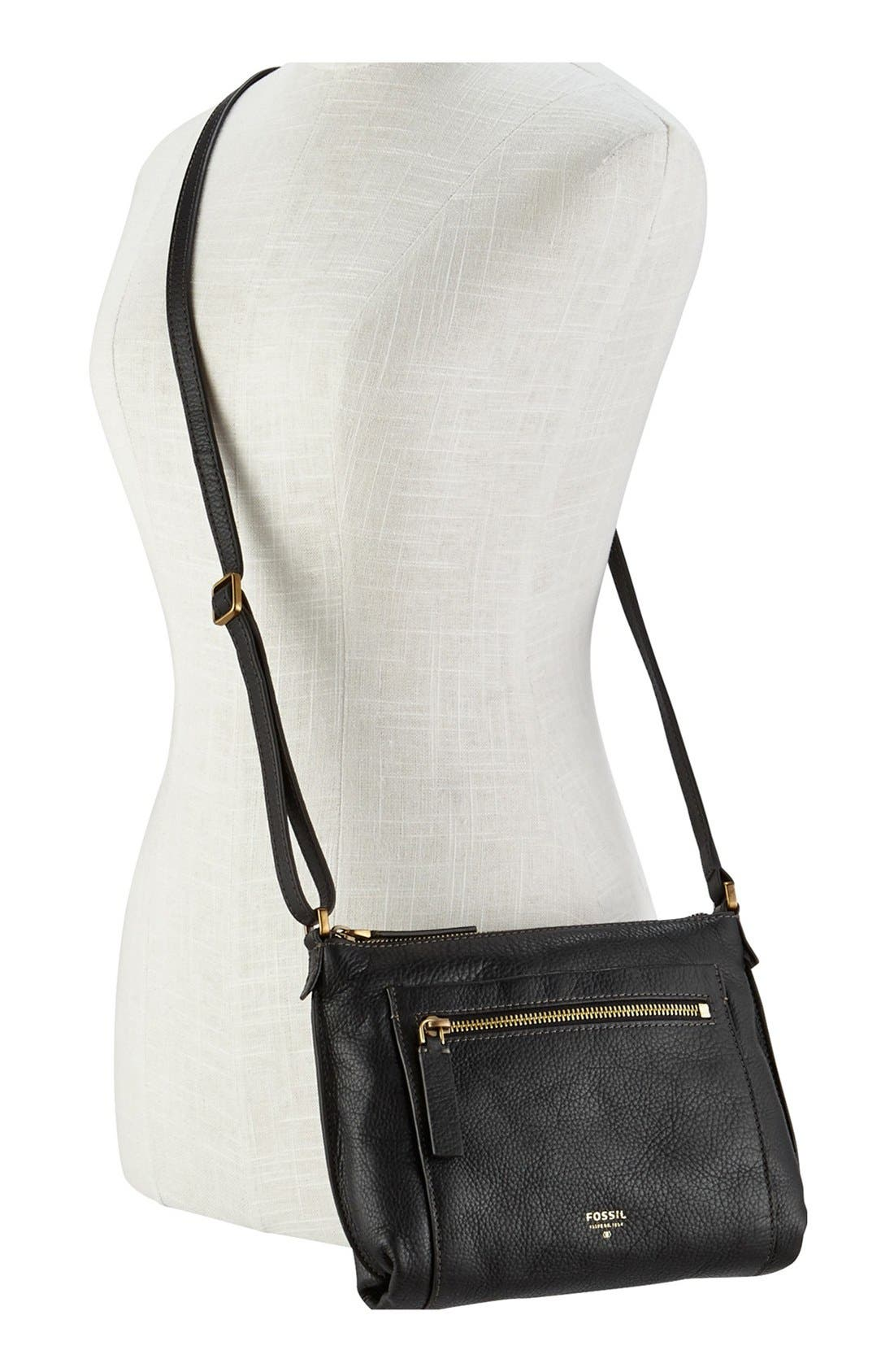 'Vickery' Leather Crossbody Bag,                             Alternate thumbnail 2, color,                             001