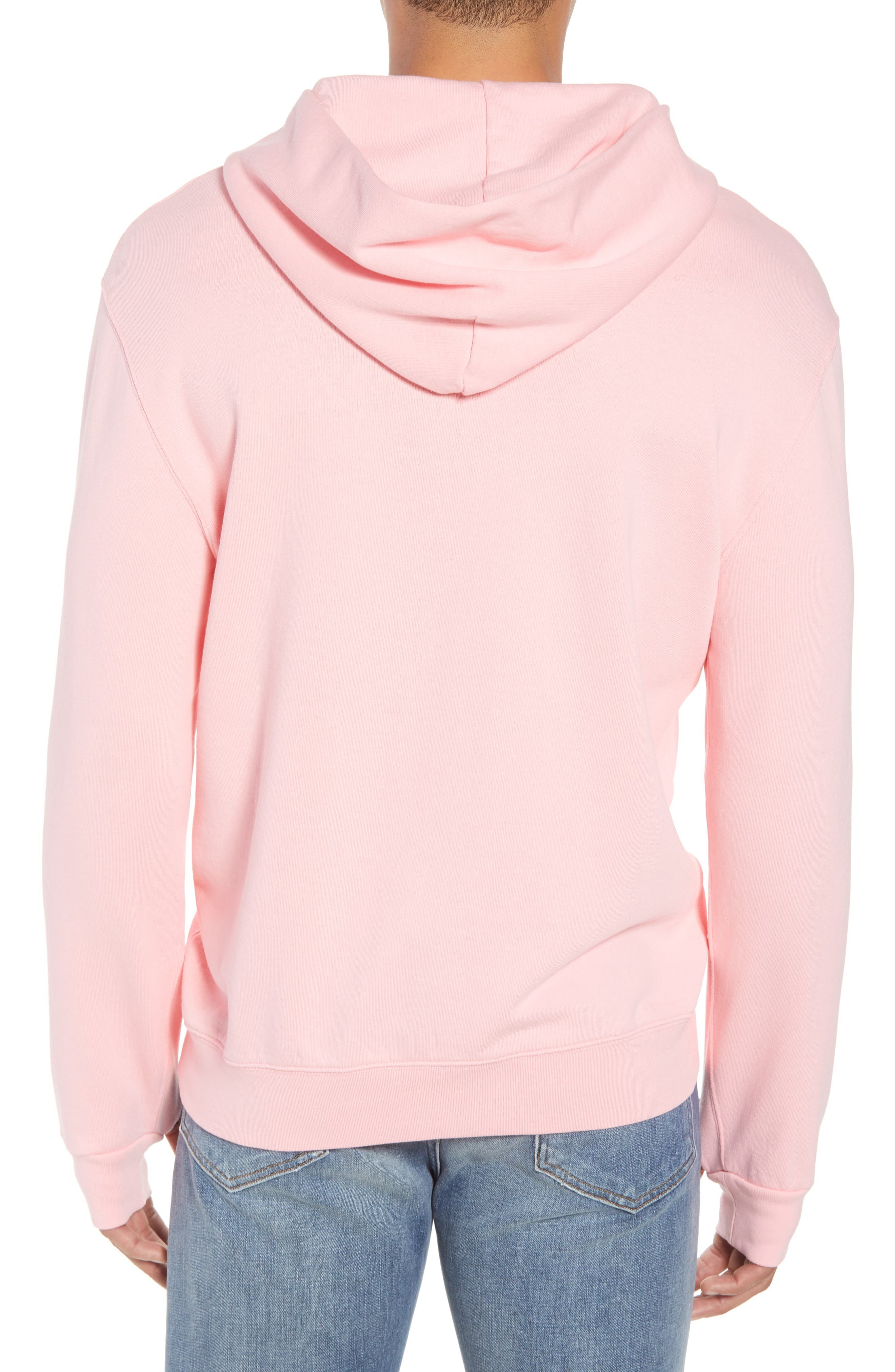Pyramid Classic Fit Hoodie,                             Alternate thumbnail 2, color,                             CANDY PINK