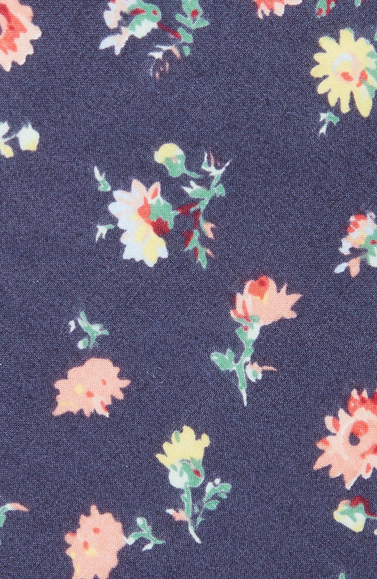 Floral Cotton Skinny Tie,                             Alternate thumbnail 2, color,                             410