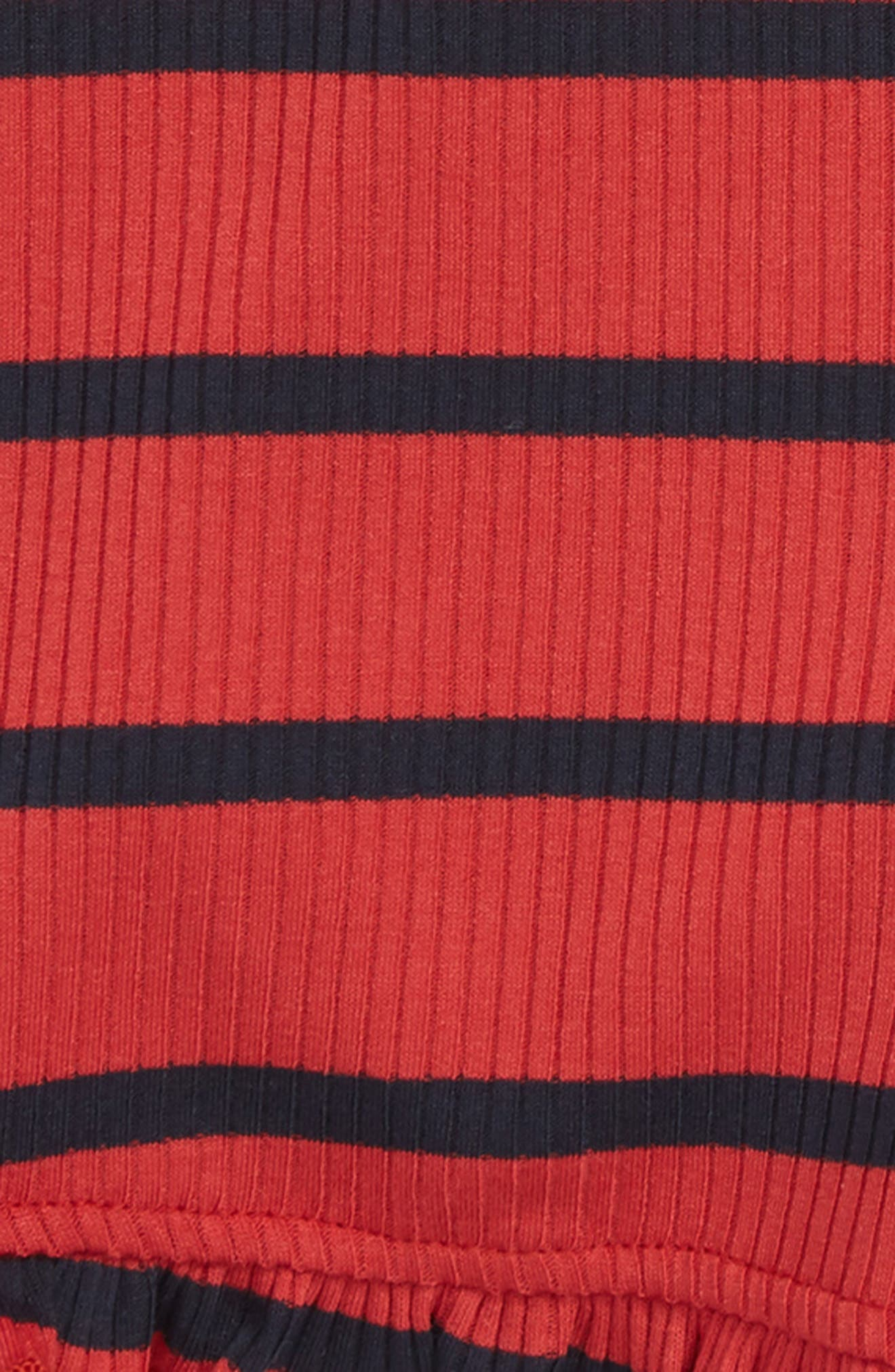 Stripe Ruffle Shorts,                             Alternate thumbnail 2, color,                             604