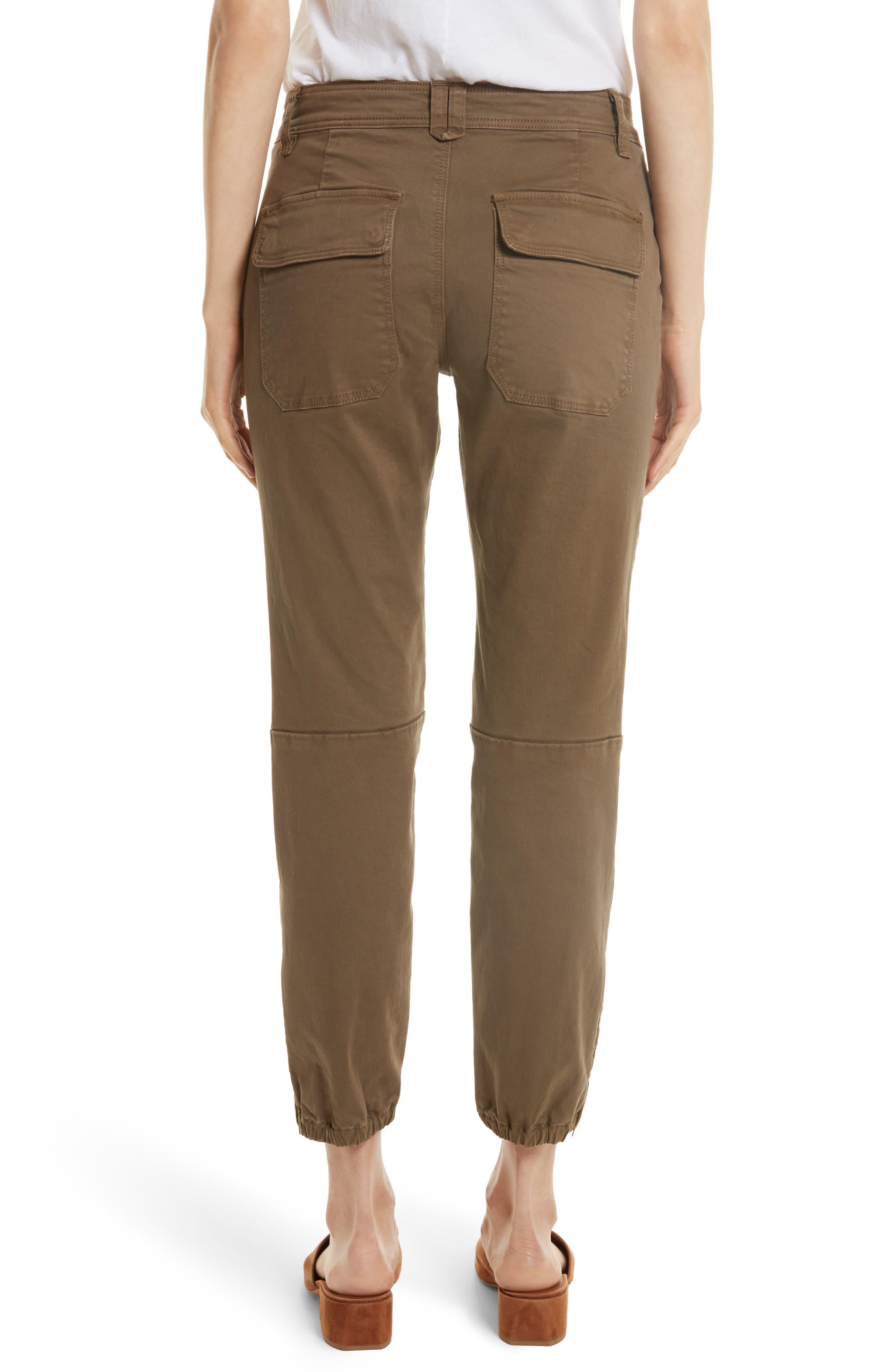 Crop Twill Utility Pants,                             Alternate thumbnail 2, color,                             302