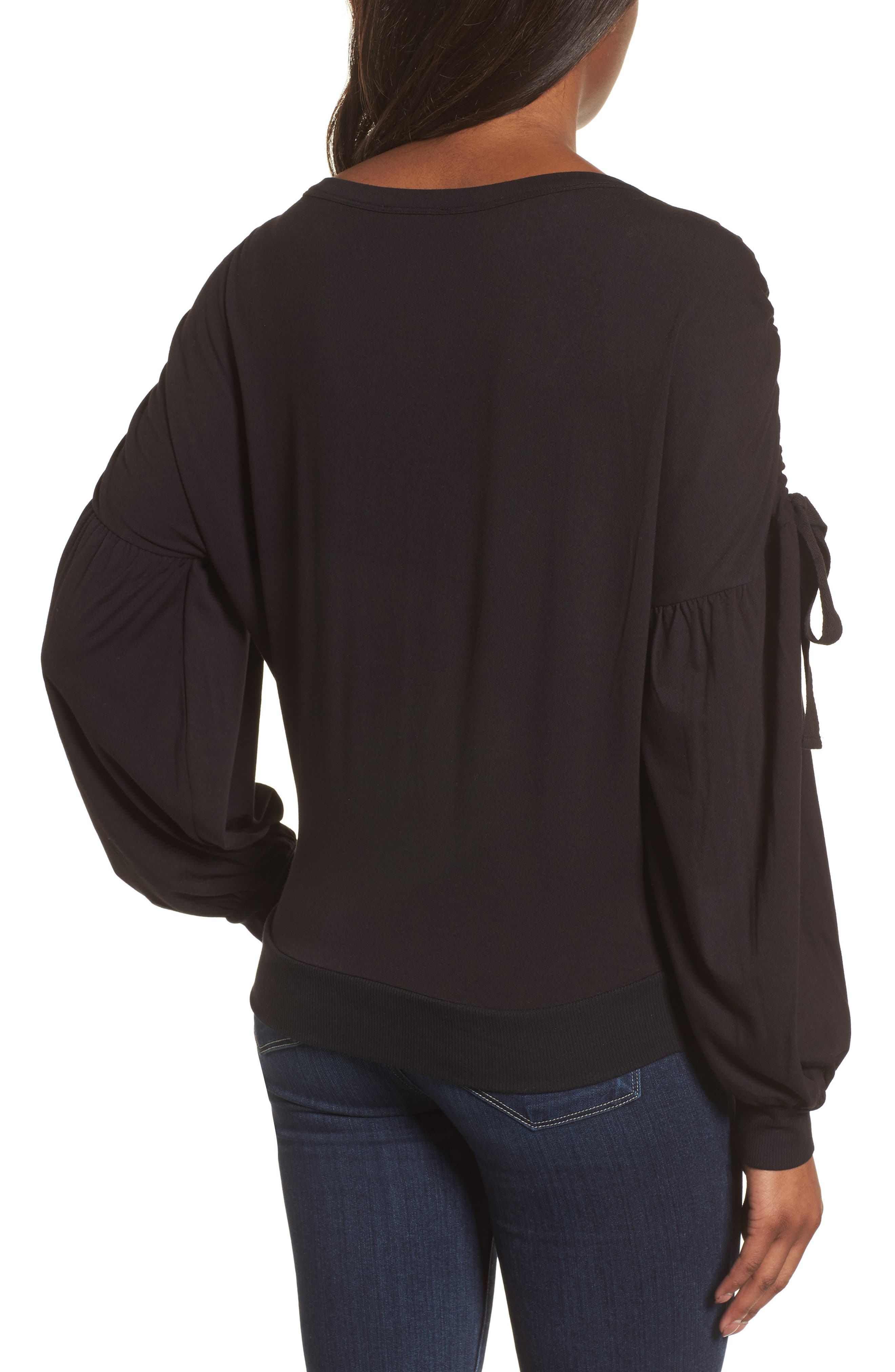 Ruched Bow Sleeve Top,                             Alternate thumbnail 5, color,