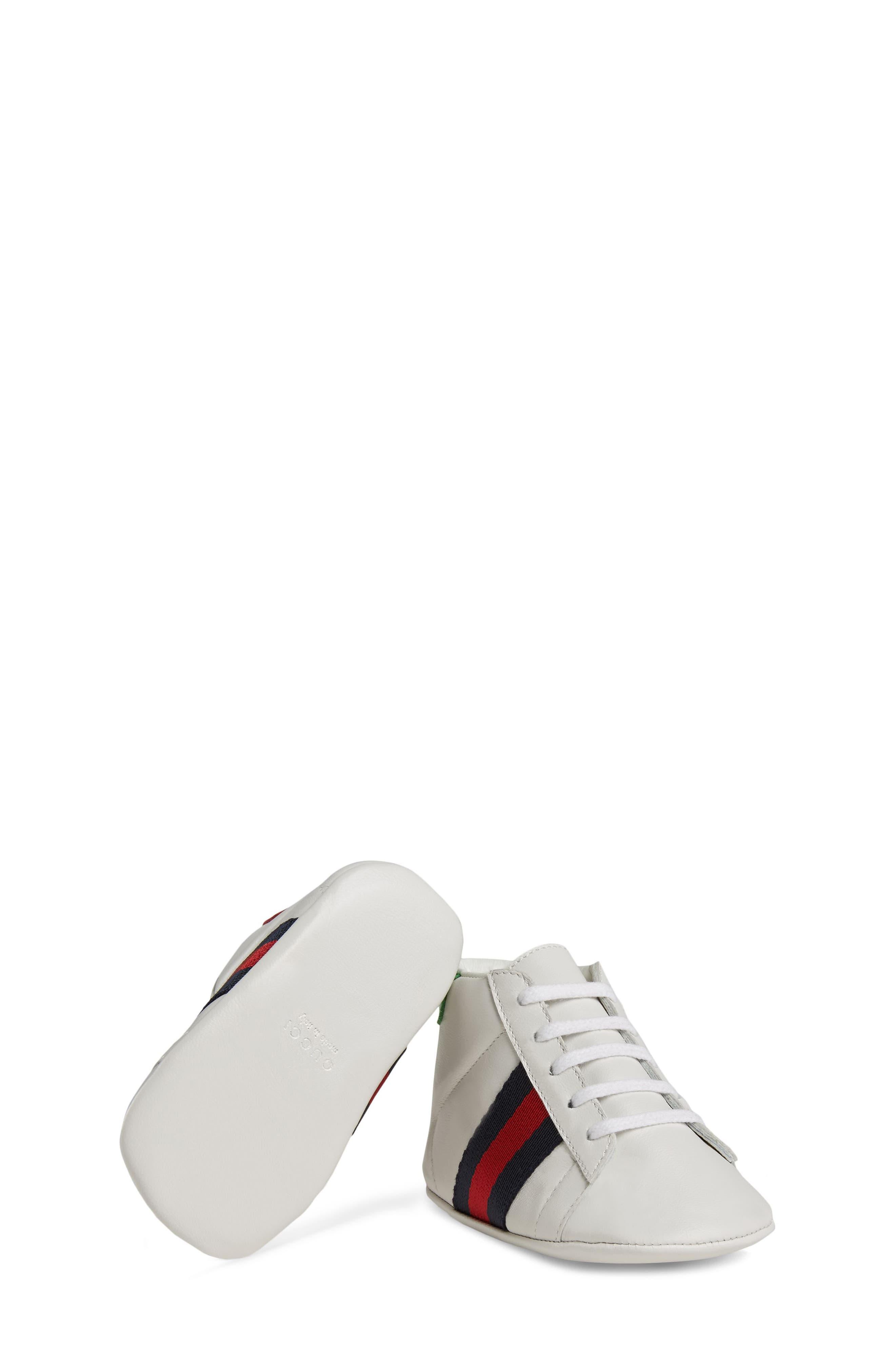 New Ace Crib Shoe,                             Alternate thumbnail 5, color,                             WHITE