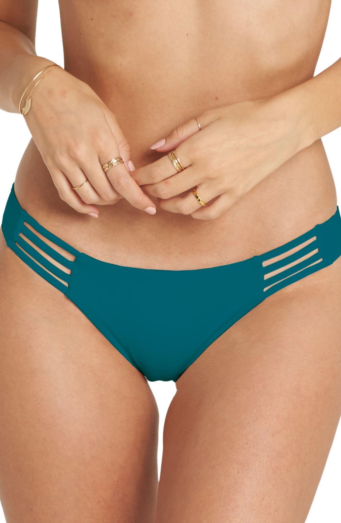 Sol Searcher Tropic Cheeky Bikini Bottoms,                         Main,                         color, DEEP LAGOON