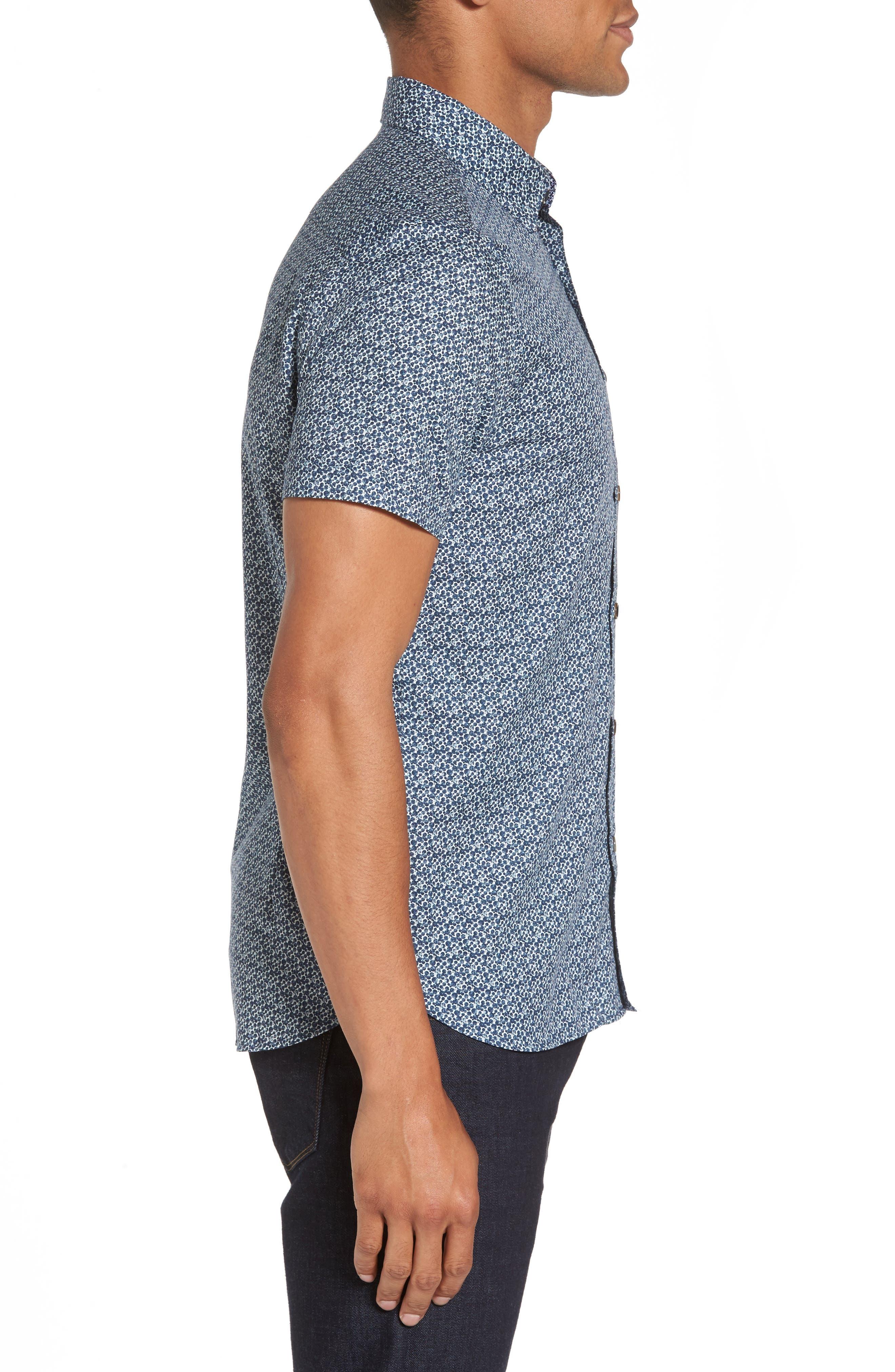 Bubbly Extra Slim Fit Print Sport Shirt,                             Alternate thumbnail 3, color,                             410