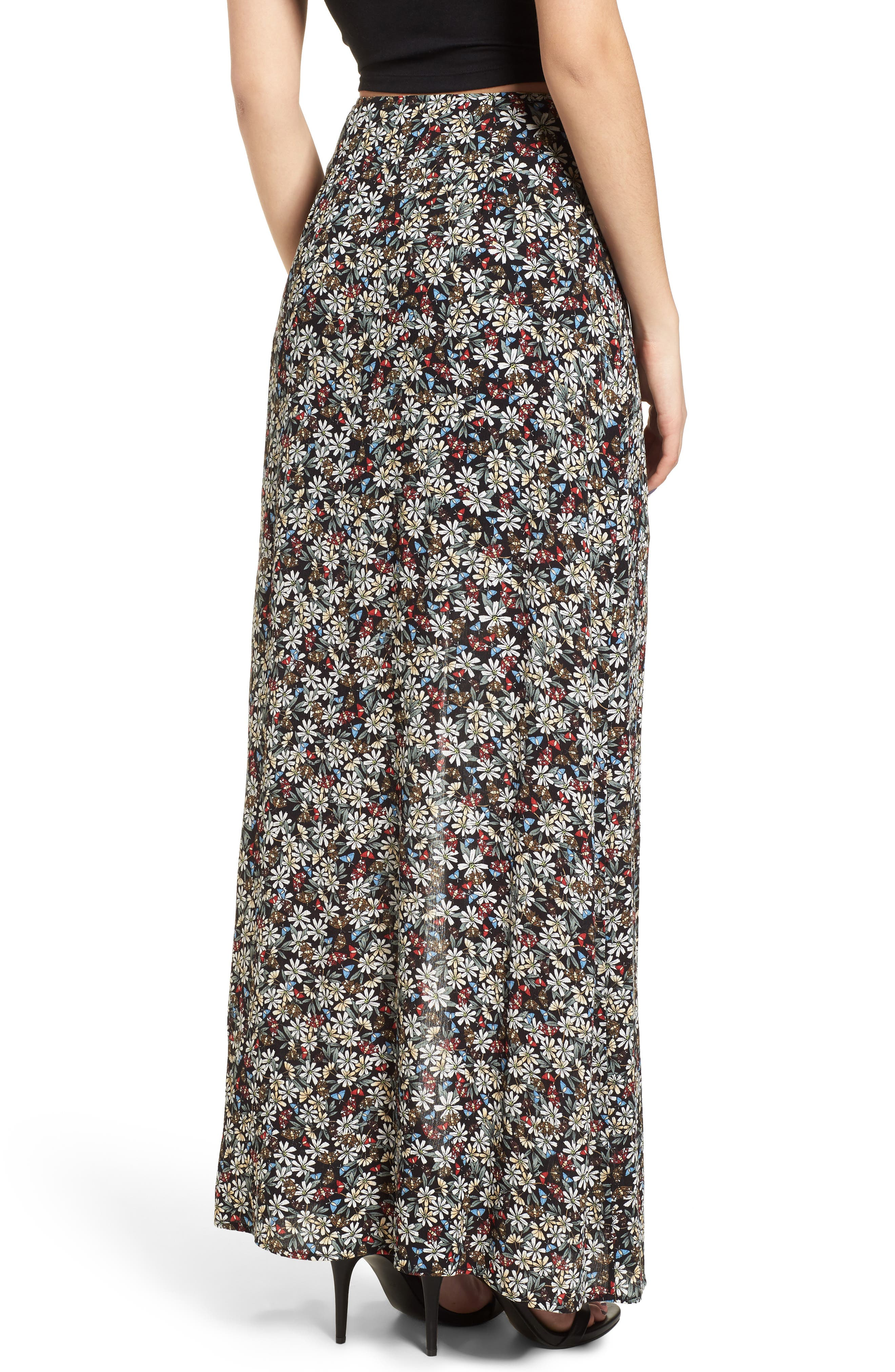 Flora Slit Front Maxi Skirt,                             Alternate thumbnail 2, color,                             004