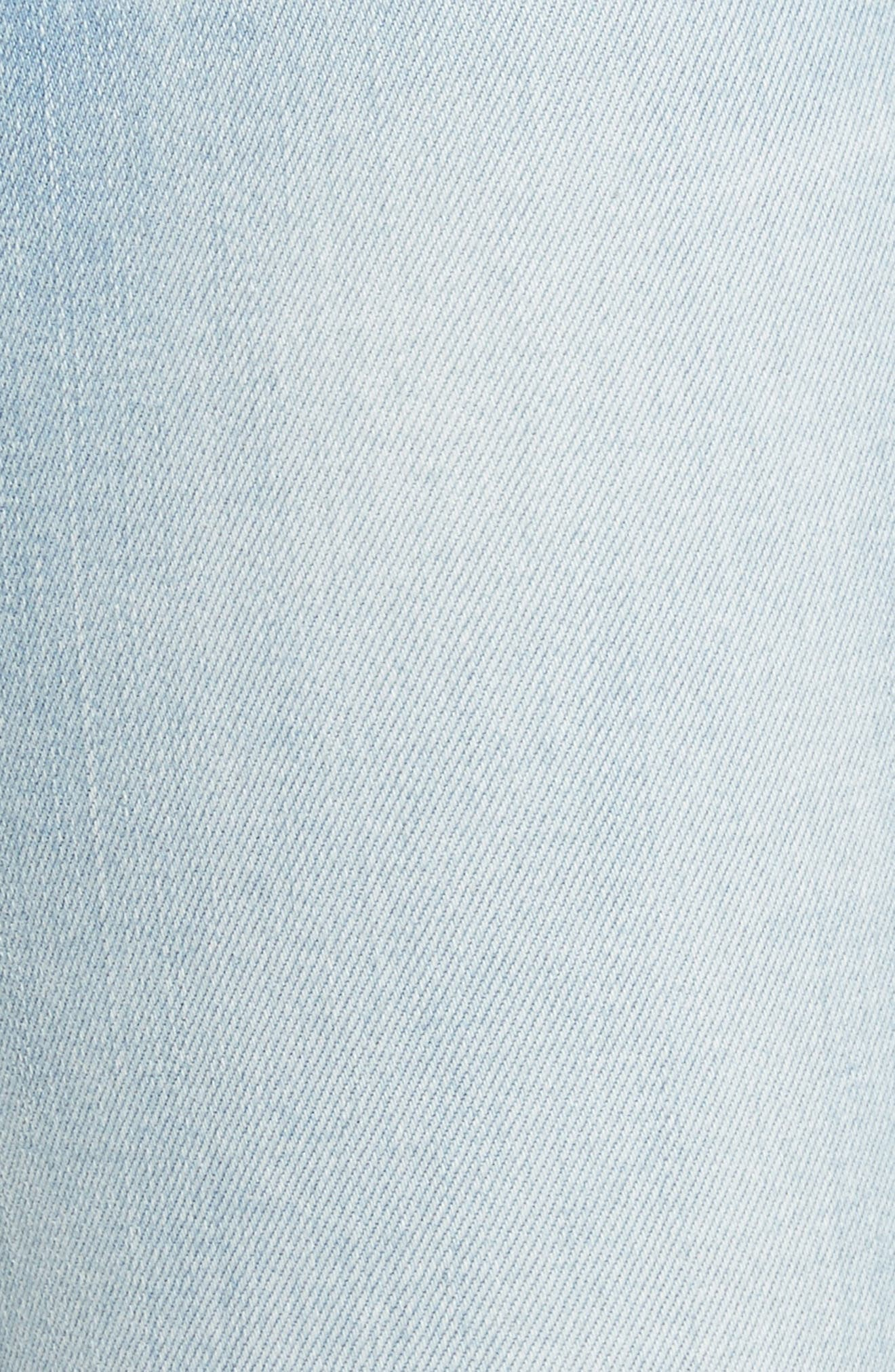 Le Skinny de Jeanne Raw Edge Skinny Jeans,                             Alternate thumbnail 5, color,                             450