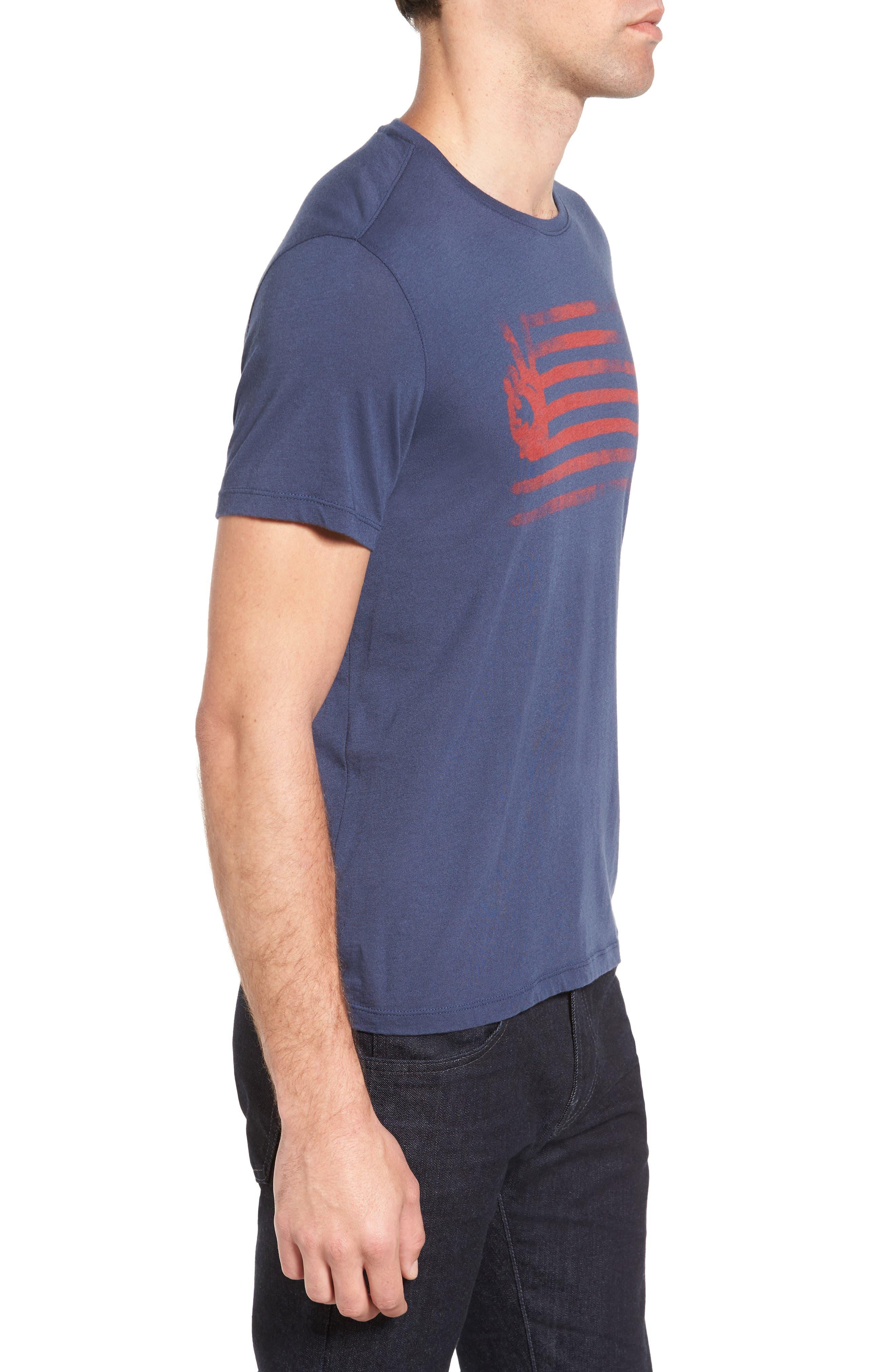 Peace Flag Graphic T-Shirt,                             Alternate thumbnail 3, color,                             473