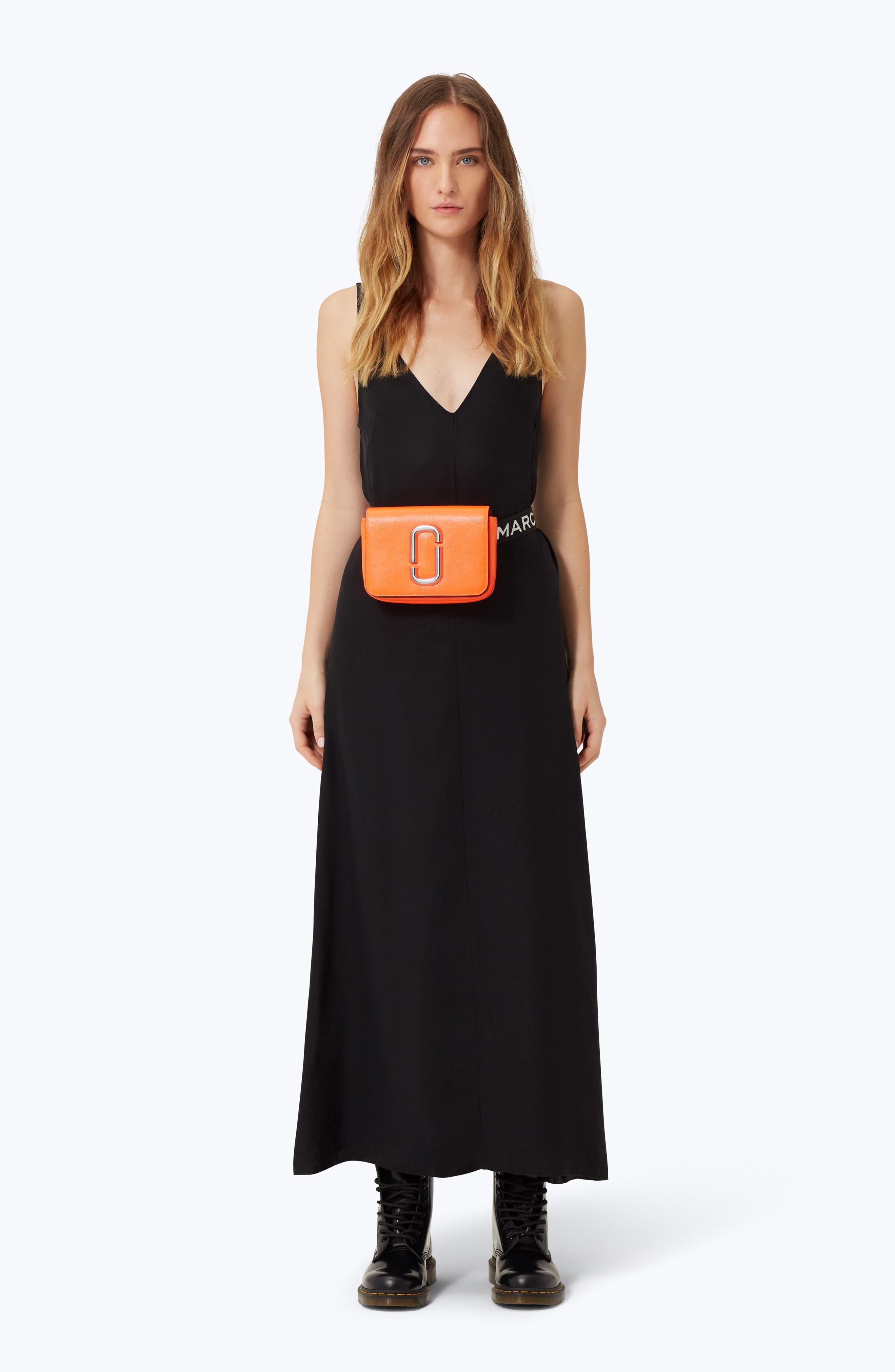Hip Shot Convertible Crossbody Bag - Orange in Black