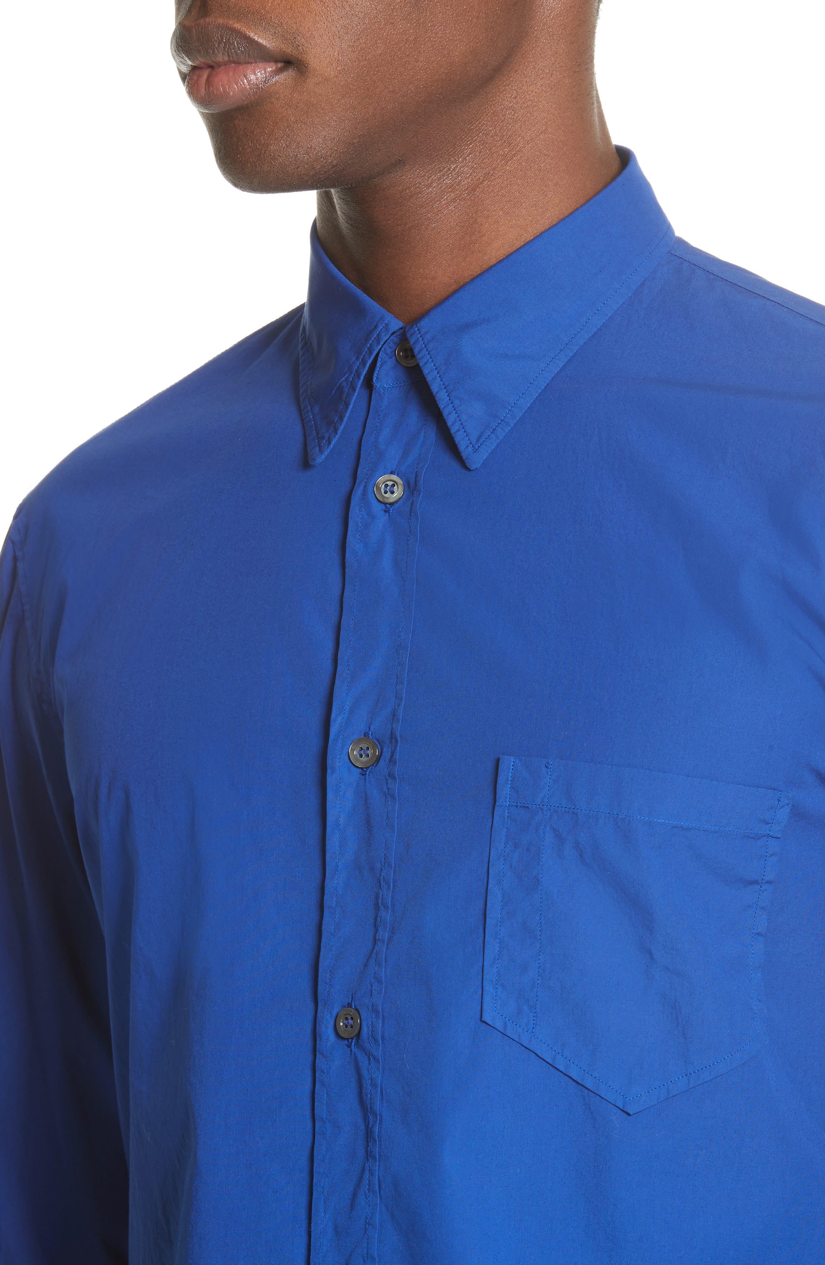 Poplin Shirt,                             Alternate thumbnail 4, color,                             400