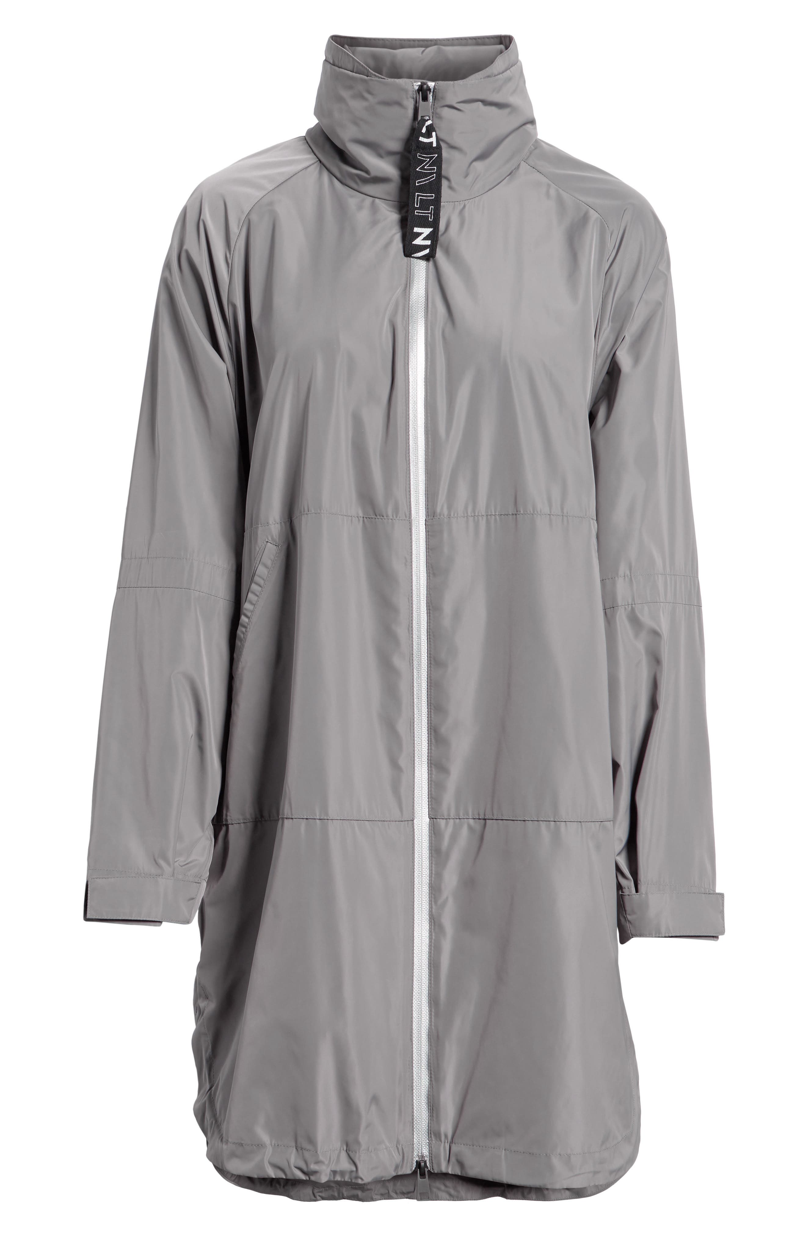 Poly-Luxe Packable Oversize Jacket,                             Alternate thumbnail 5, color,                             020