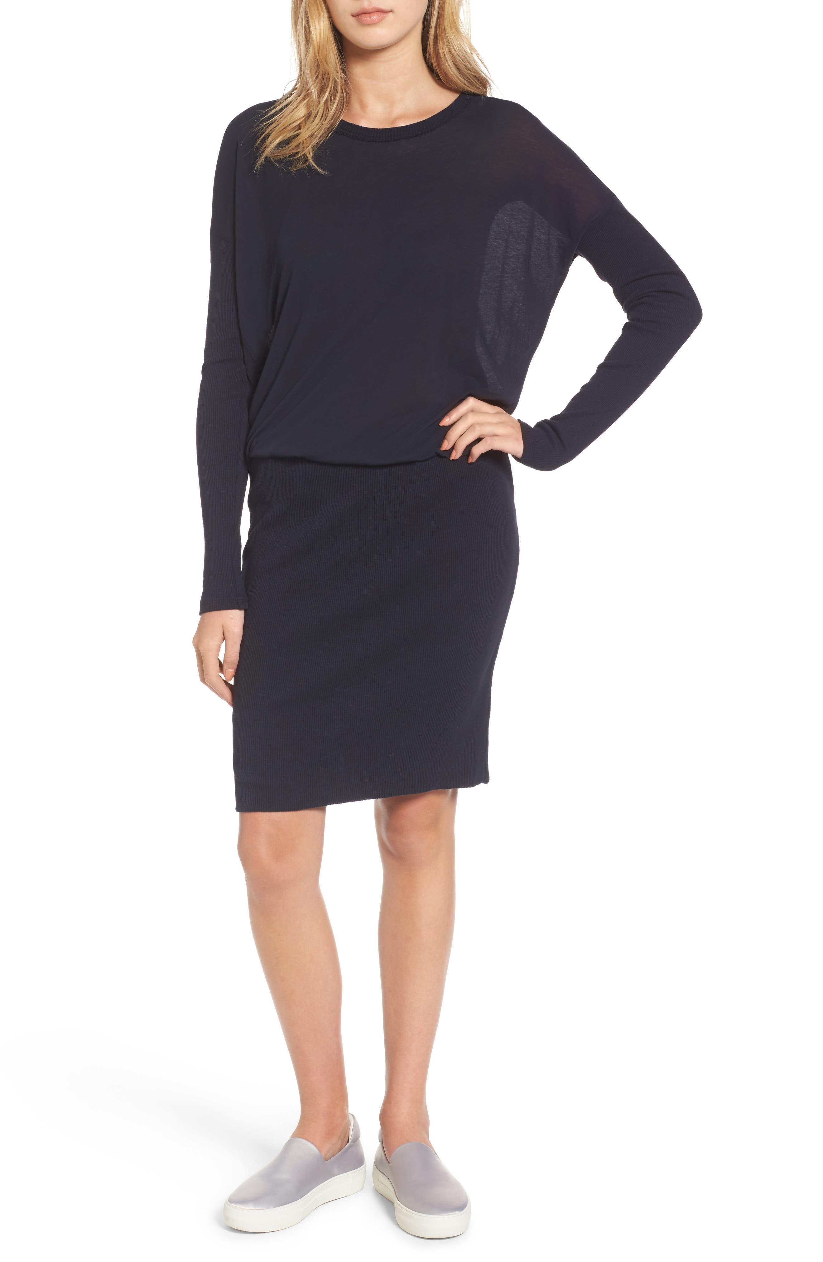 Blouson T-Shirt Dress,                             Alternate thumbnail 4, color,                             415
