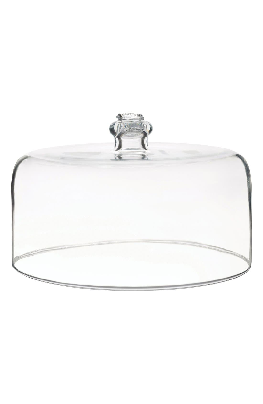 Berry & Thread Glass Cake Dome,                             Main thumbnail 1, color,                             CLEAR