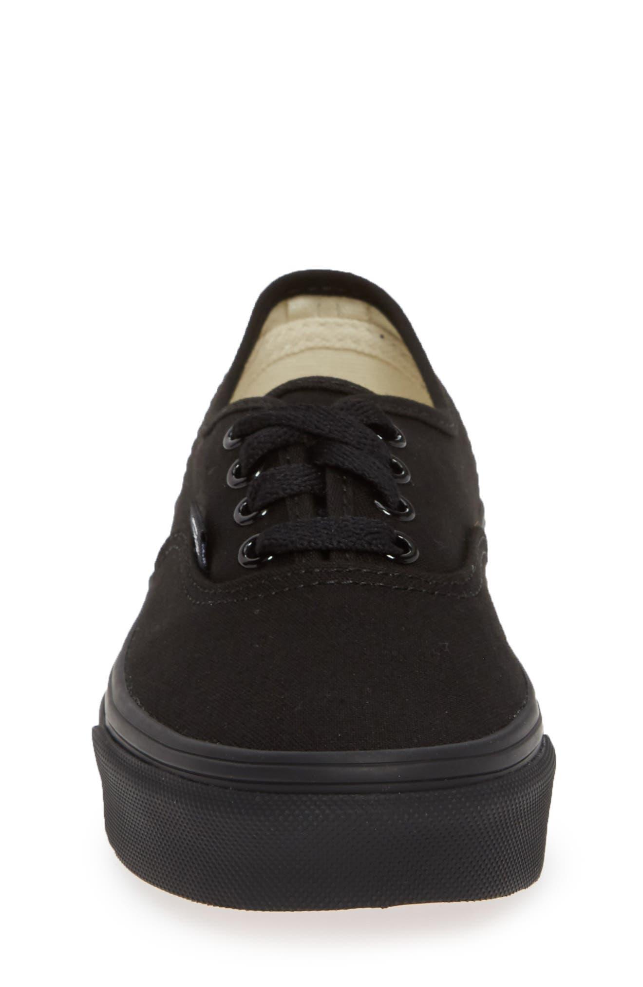 'Authentic' Sneaker,                             Alternate thumbnail 4, color,                             BLACK/ BLACK/ BLACK